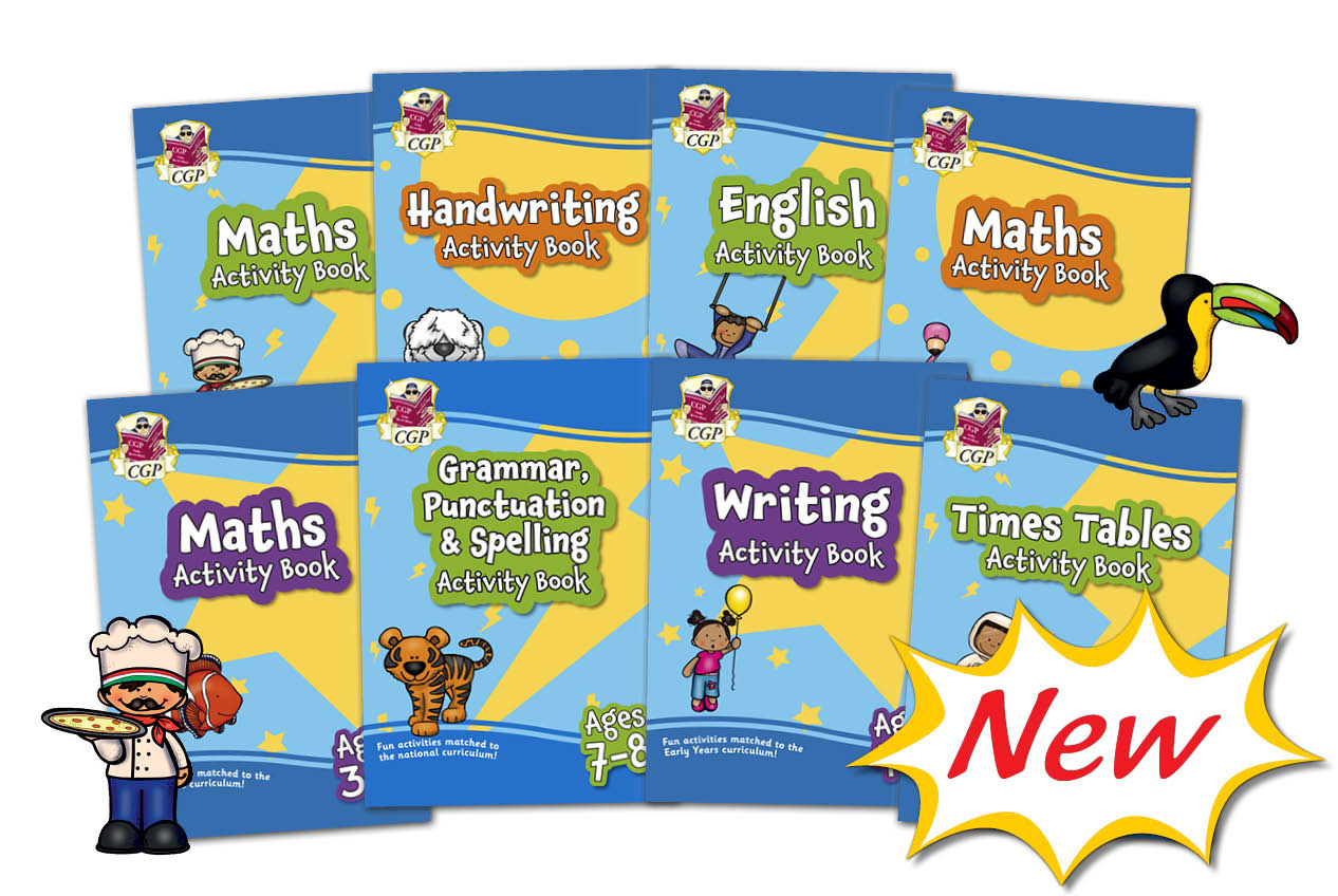 primary home learning activity books