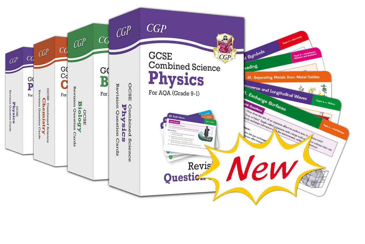 CGP's GCSE Science Revision Cards are out now!
