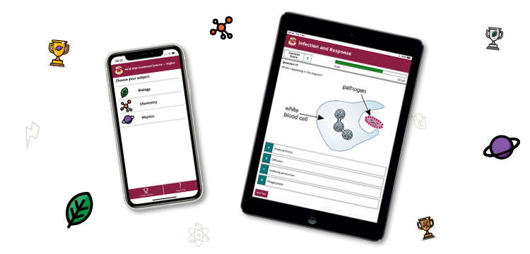 CGP's AQA GCSE Science Apps - on devices