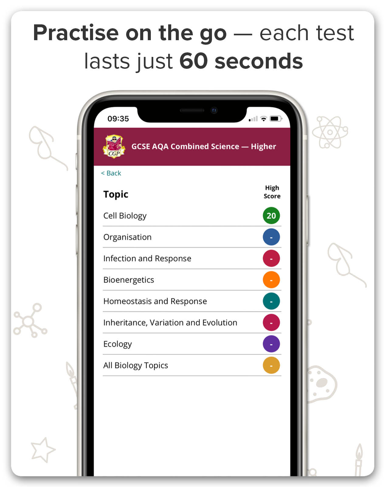 Practise AQA GCSE Science on the go!