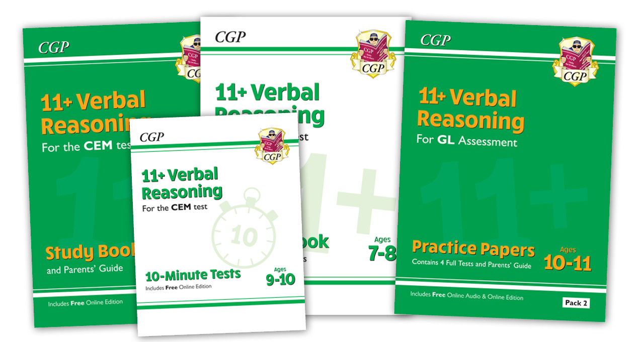 Verbal Reasoning Range from CGP
