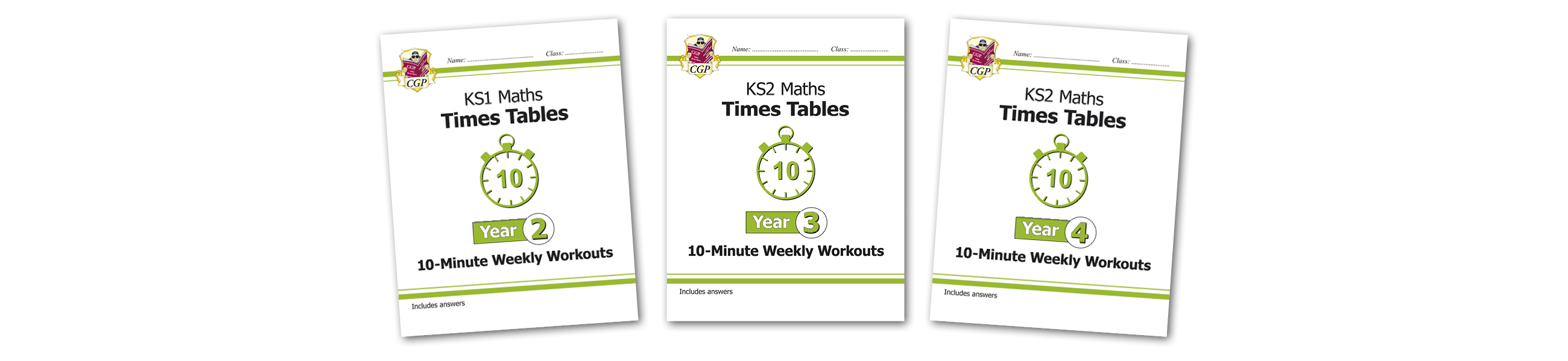 CGP Times Tables Weekly Workouts
