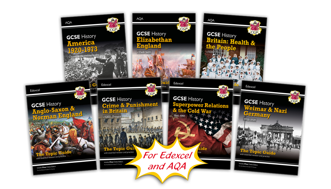 New GCSE History Topic Guides for AQA and Edexcel