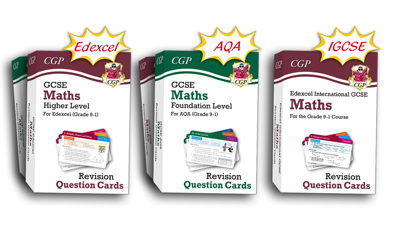 CGP Revision Question Cards for GCSE and IGCSE Maths