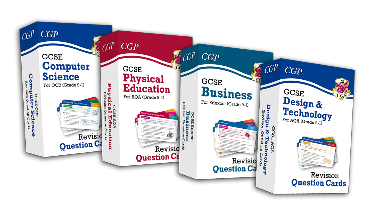 The latest GCSE Revision Question Cards from CGP