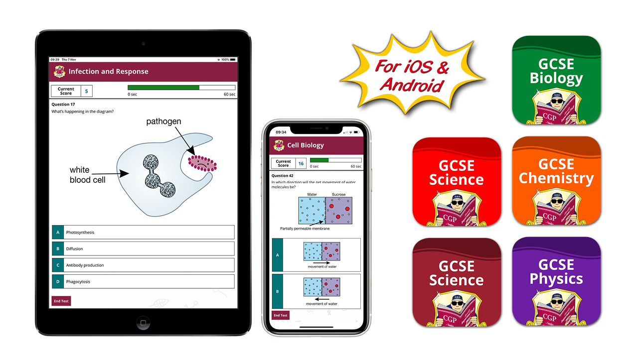 CGP's new GCSE Science Revision Apps for AQA