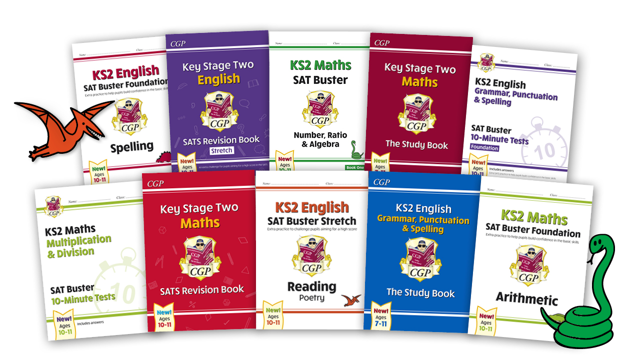 The dazzling new KS2 SATS Range from CGP!