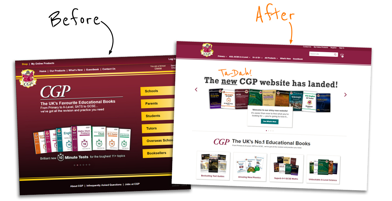 New CGP Website
