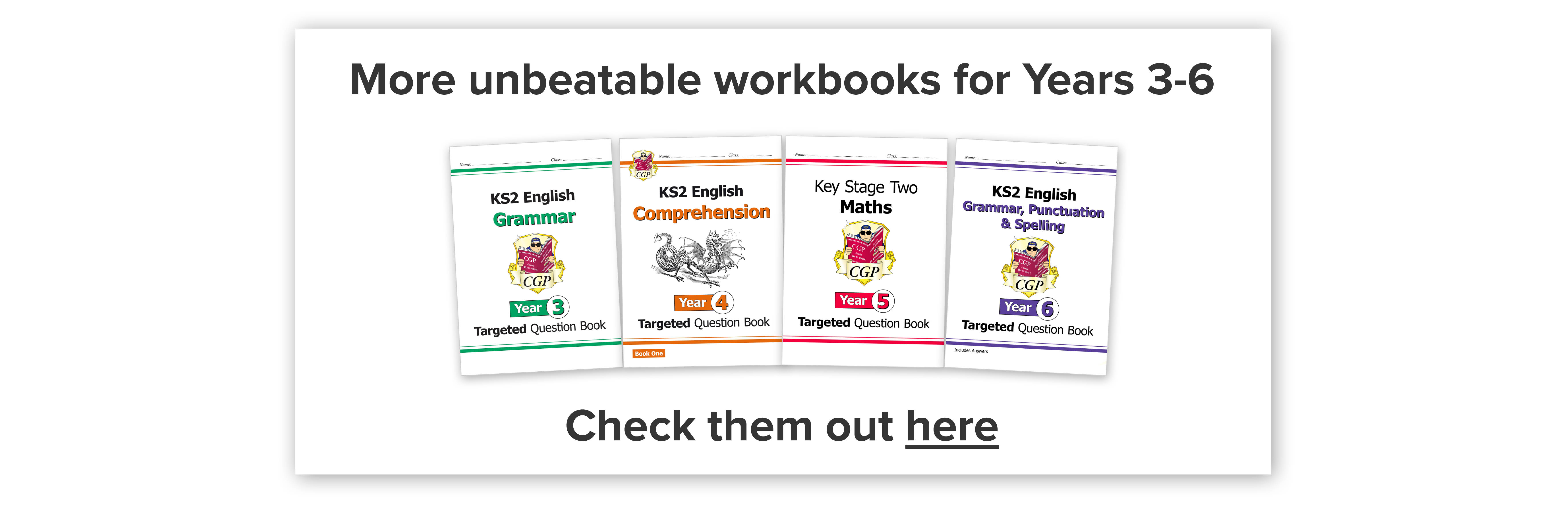 More unbeatable workbooks for Years 3-6