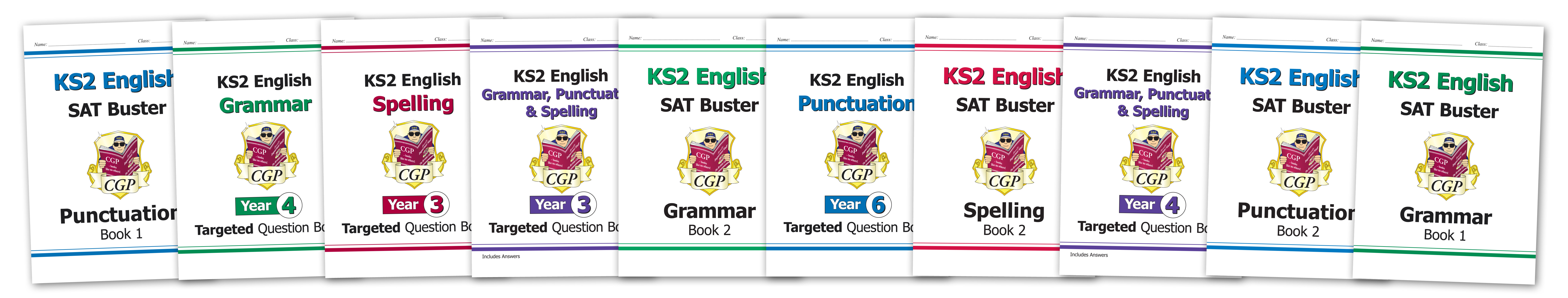 Grammar, Punctuation and Spelling books from CGP