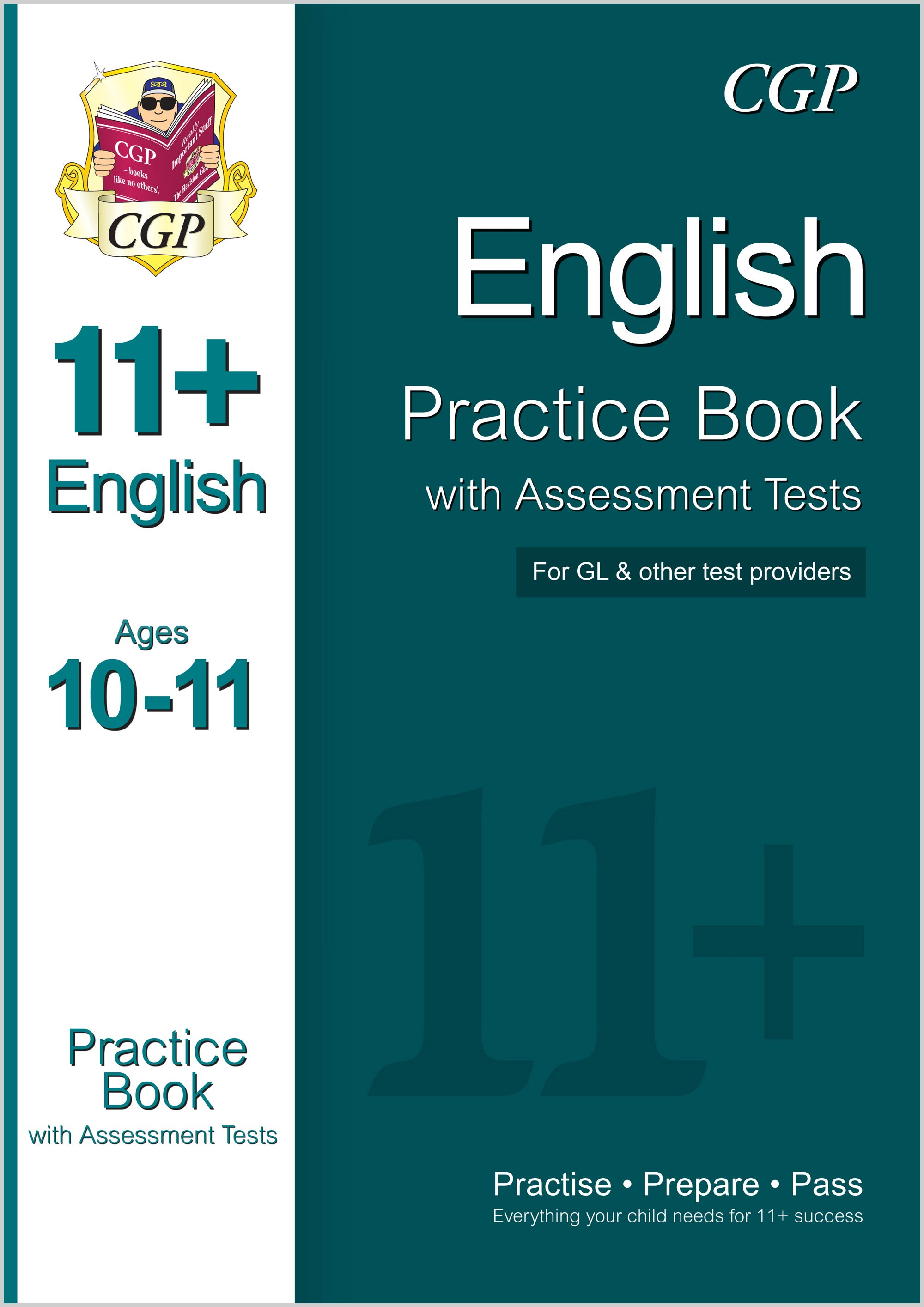 E6QE1 - 11+ English Practice Book with Assessment Tests Ages 10-11 (for GL & Other Test Providers)