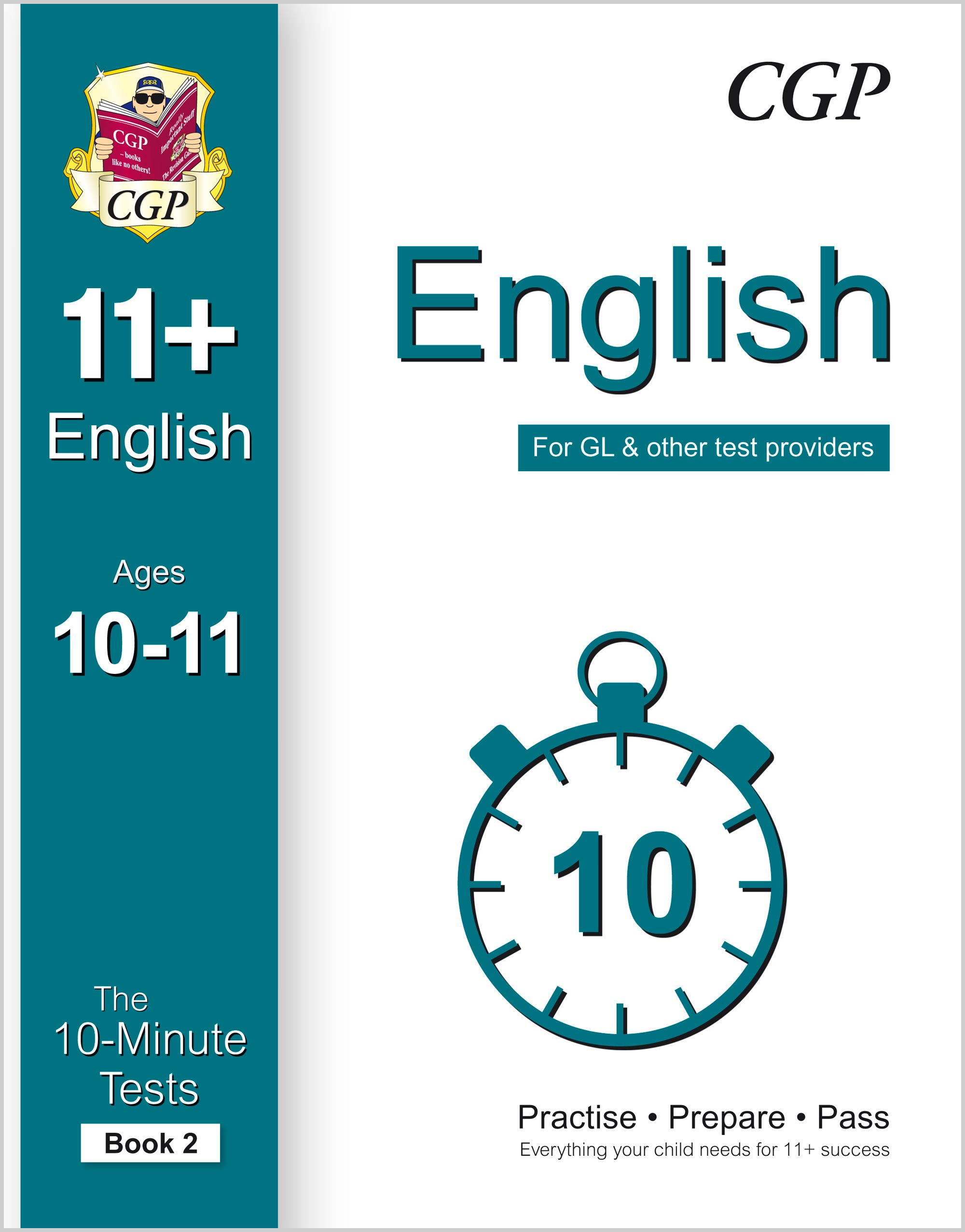 E6XP2E1 - 10-Minute Tests for 11+ English Ages 10-11 (Book 2) - for GL & Other Test Providers