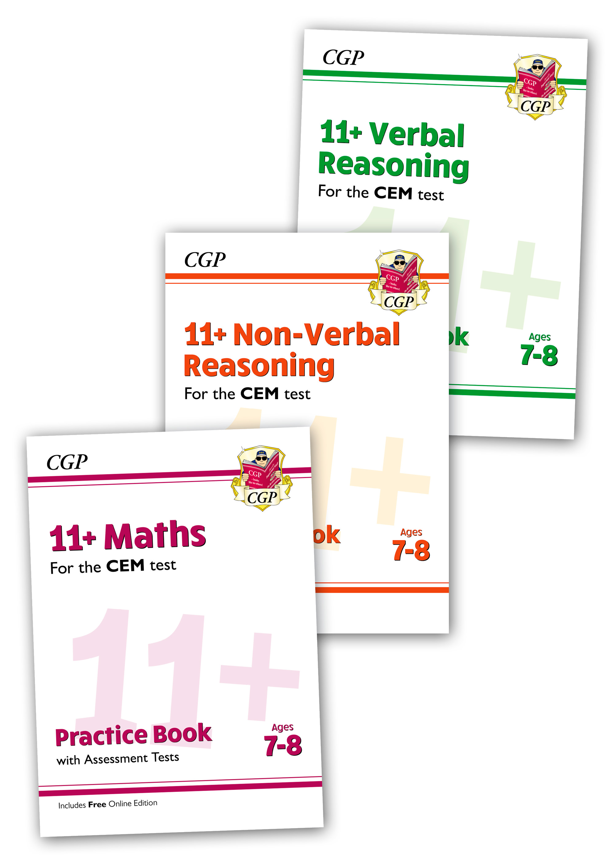 EL3BDE2 - CEM 11+ Practice 3-book Bundle - for Ages 7-8