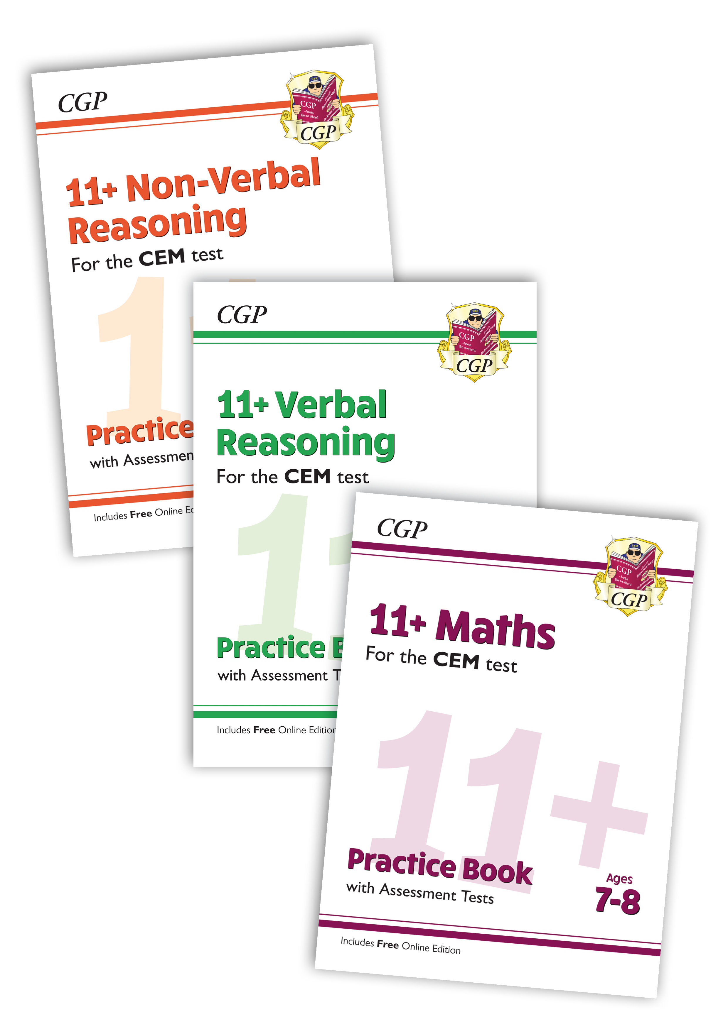 EL3BDE3 - New 11+ CEM Practice 3-book Bundle - for Ages 7-8