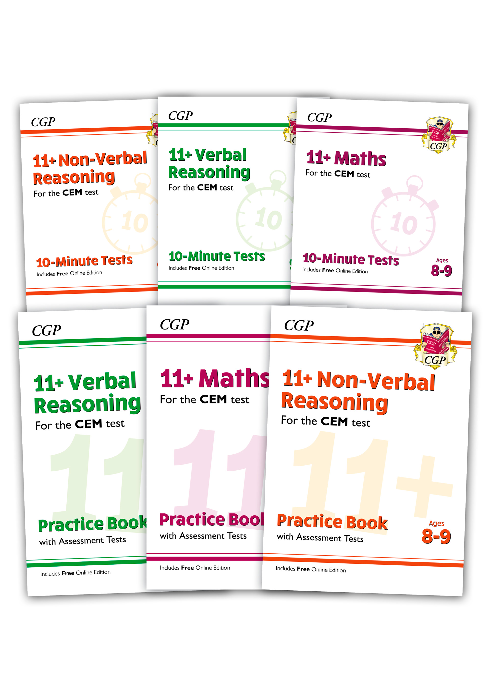 EL4BDE2 - CEM 11+ Practice 6-book Bundle - for Ages 8-9