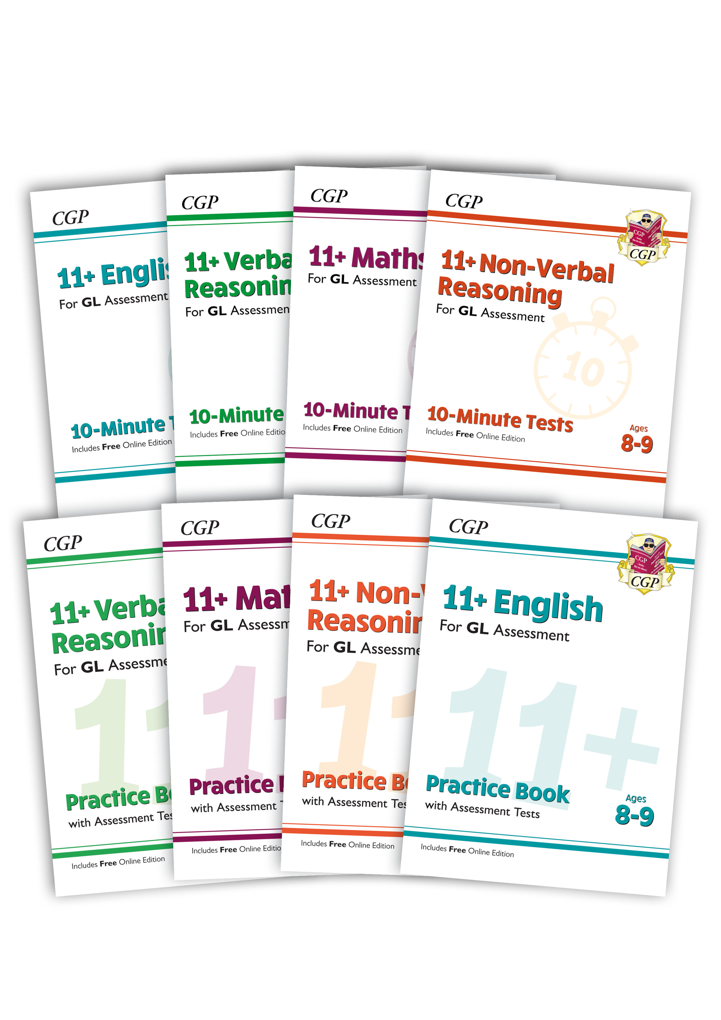 EL4BE4 - 11+ GL & Other Test Providers Practice 8-book Bundle - for Ages 8-9