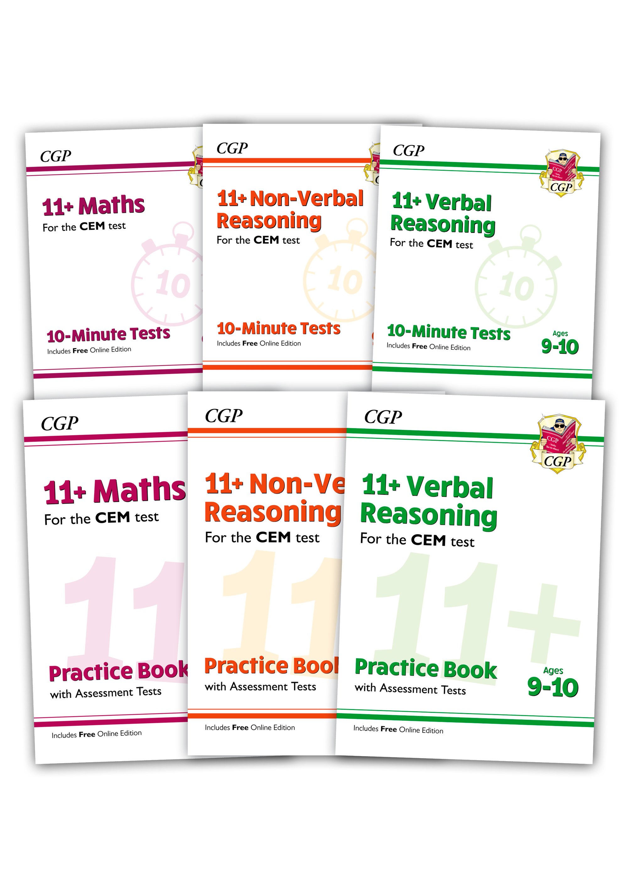 EL5BDE2 - CEM 11+ Practice 6-book Bundle - for Ages 9-10