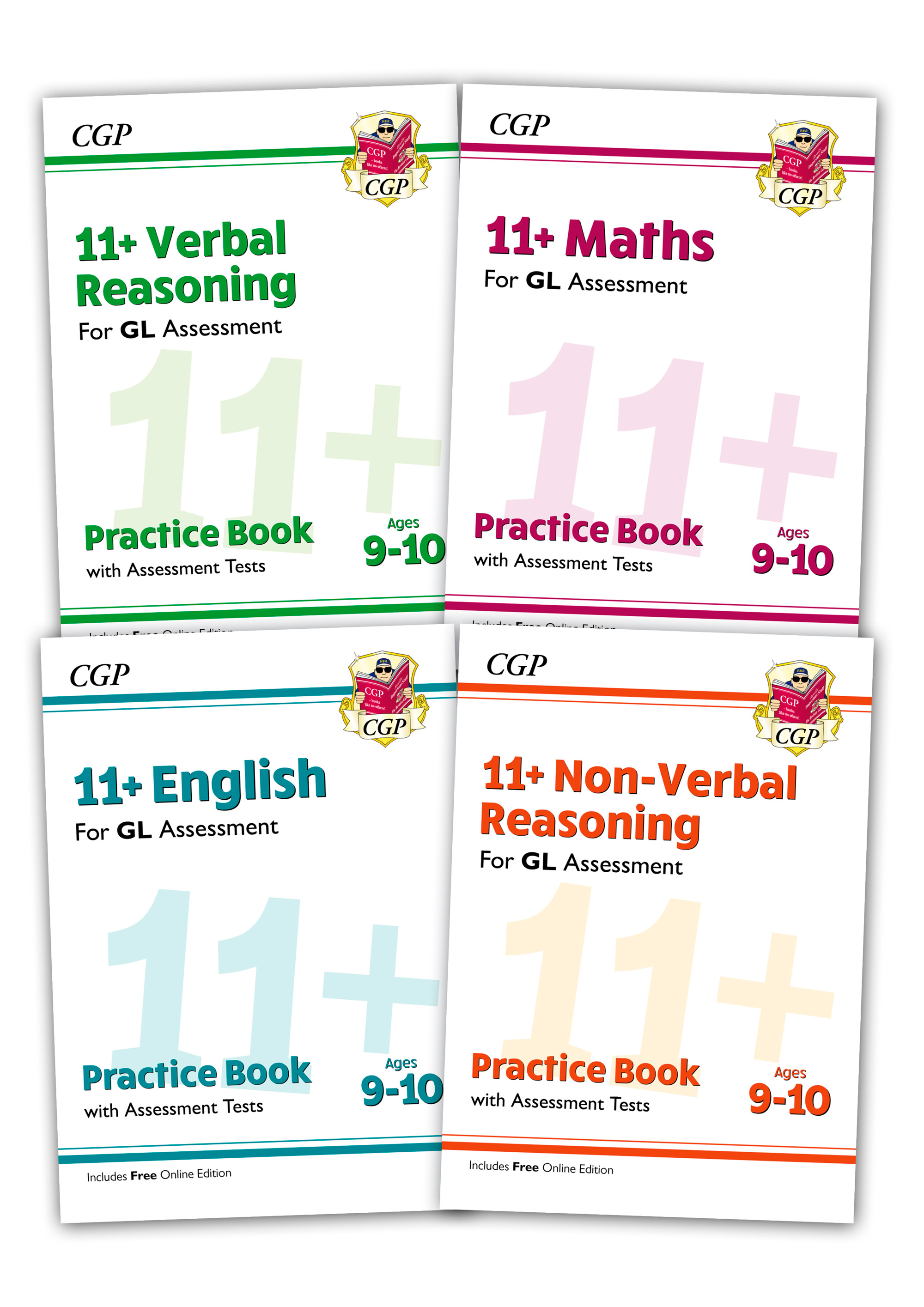EL5BE2 - GL & Other Test Providers 11+ Practice 4-book Bundle - for Ages 9-10