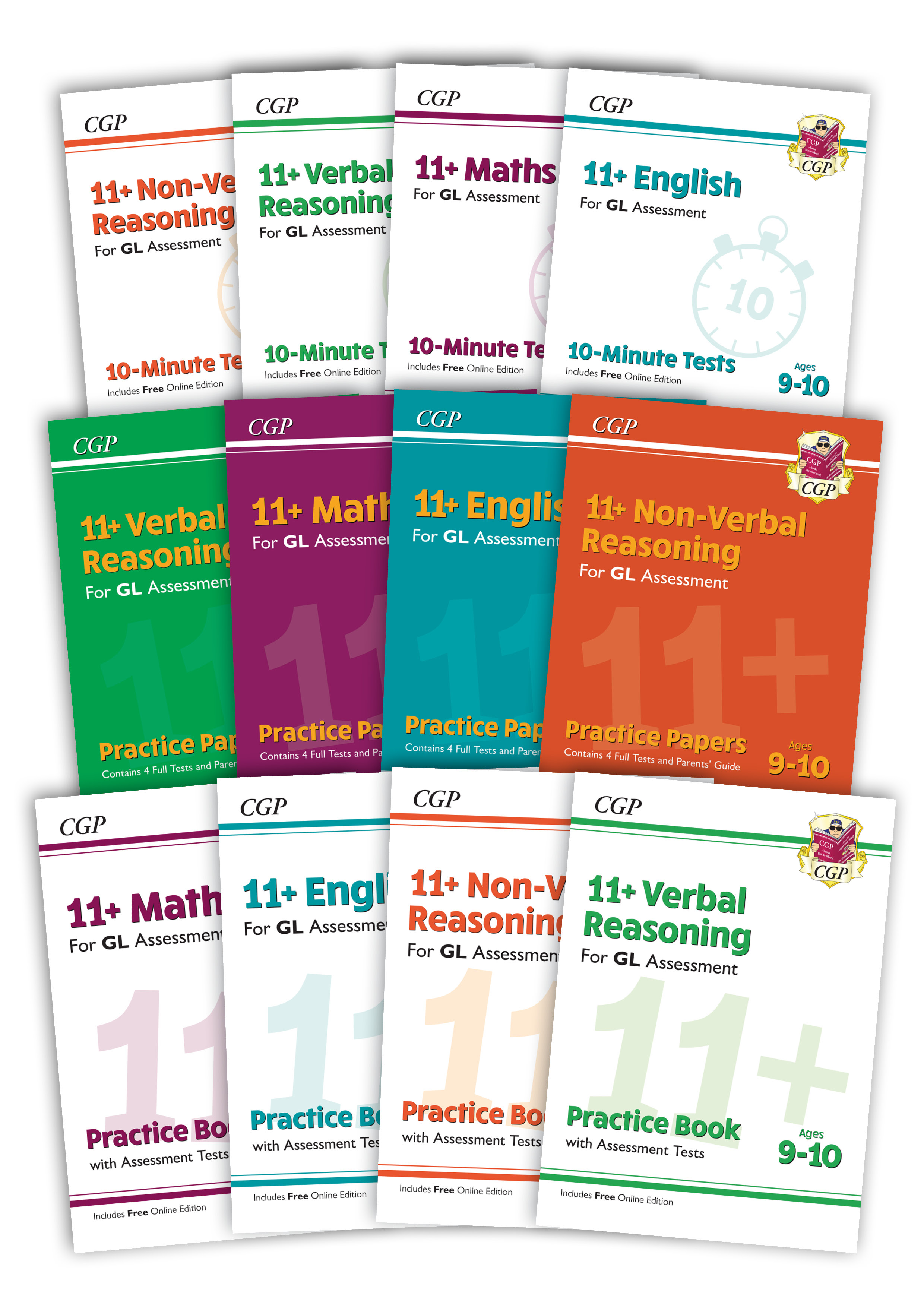EL5BE4 - 11+ GL & Other Test Providers Practice 12-book Bundle - for Ages 9-10