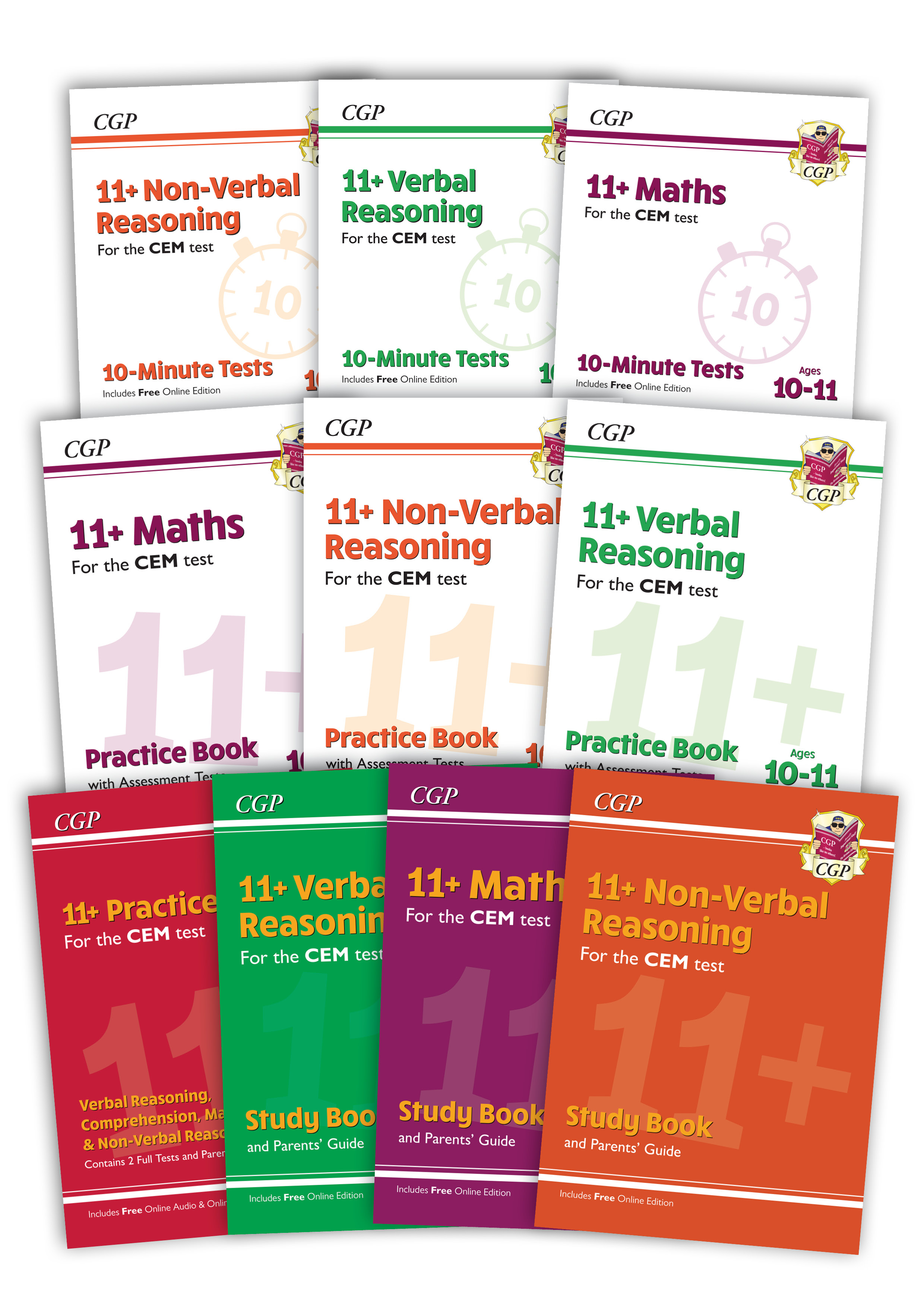 EL6BDE3 - New 11+ CEM Ultimate Study & Practice 10-book Bundle - for Ages 10-11