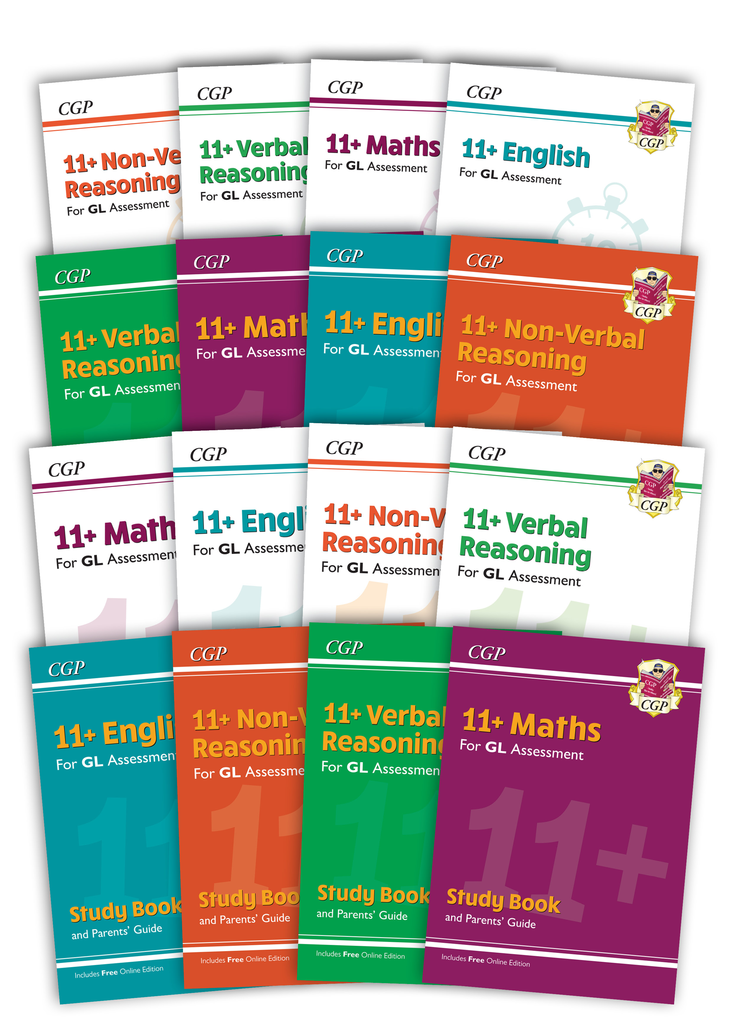 EL6BE4 - 11+ GL & Other Test Providers Ultimate Study & Practice 16-book Bundle - for Ages 10-11