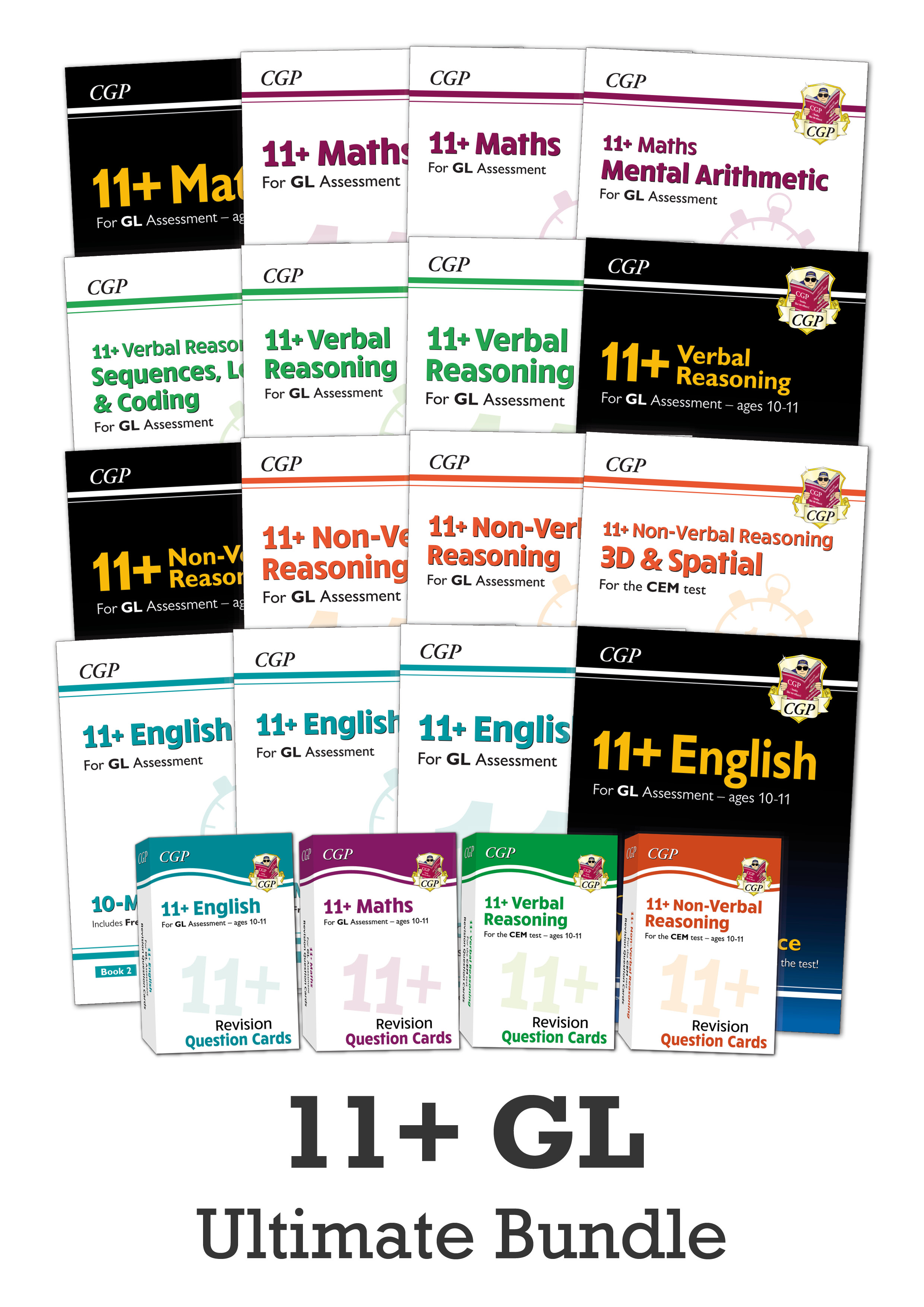 EL6BE5 - New 11+ GL Study & Practice for Ages 10-11 - 20-book money-saving Bundle