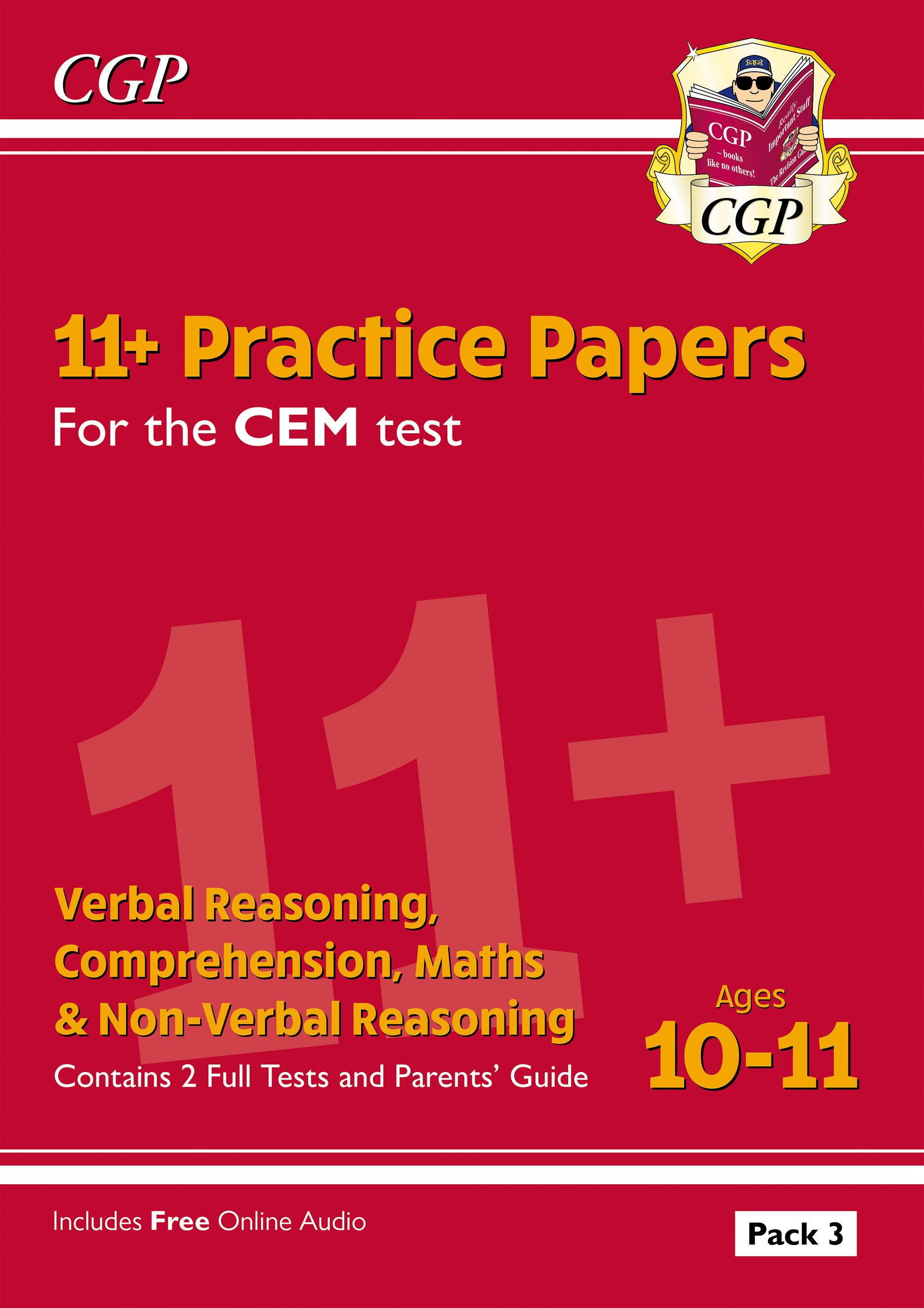 ELP3DE2DK - New 11+ CEM Practice Papers: Ages 10-11 - Pack 3 (with Parents' Guide)