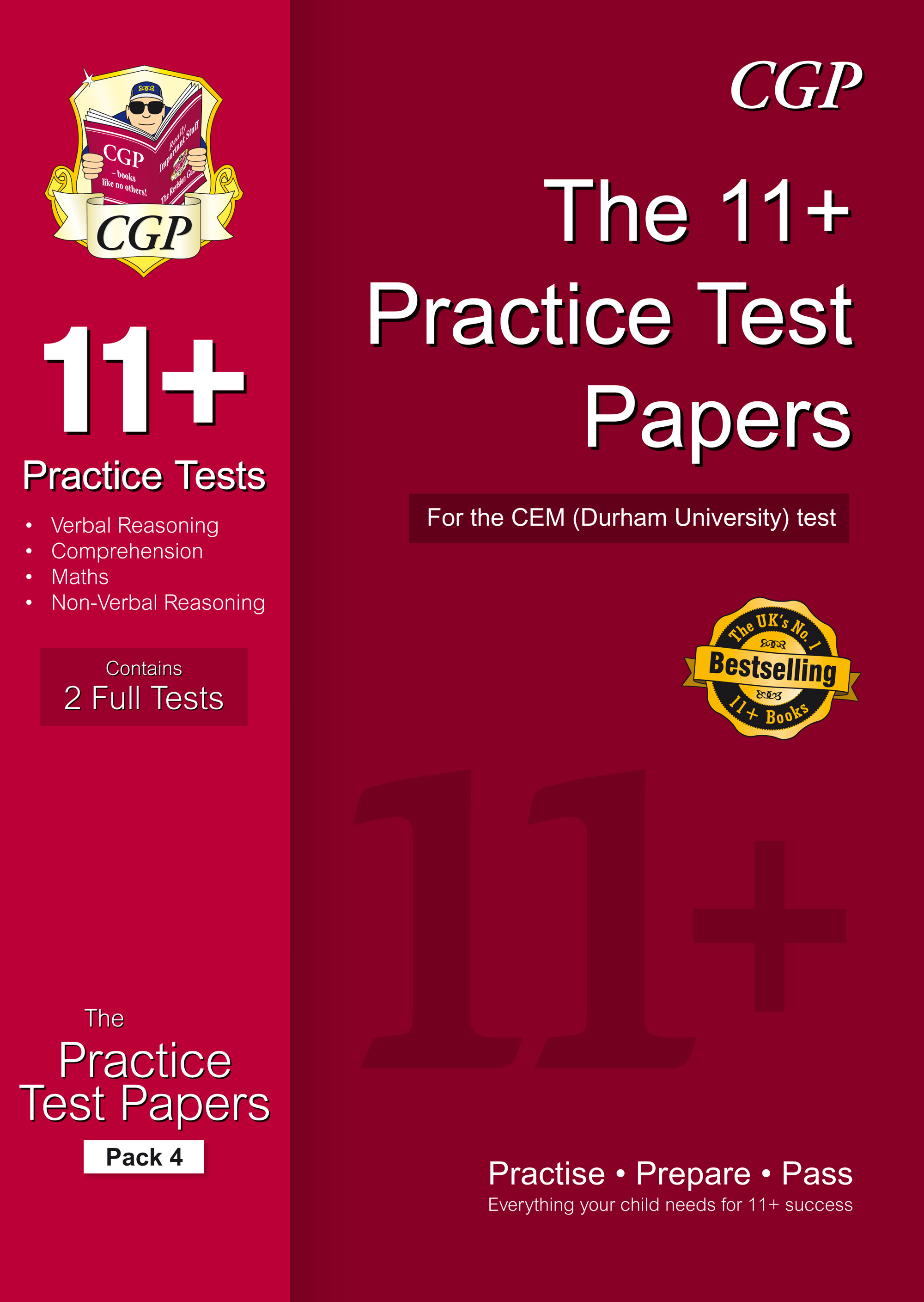 ELP4DE1 - 11+ Practice Papers for the CEM Test - Pack 4