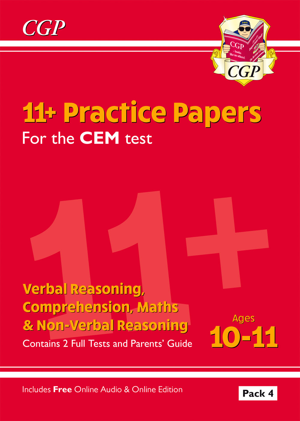 ELP4DE2 - New 11+ CEM Practice Papers: Ages 10-11 - Pack 4 (with Parents' Guide & Online Edition)