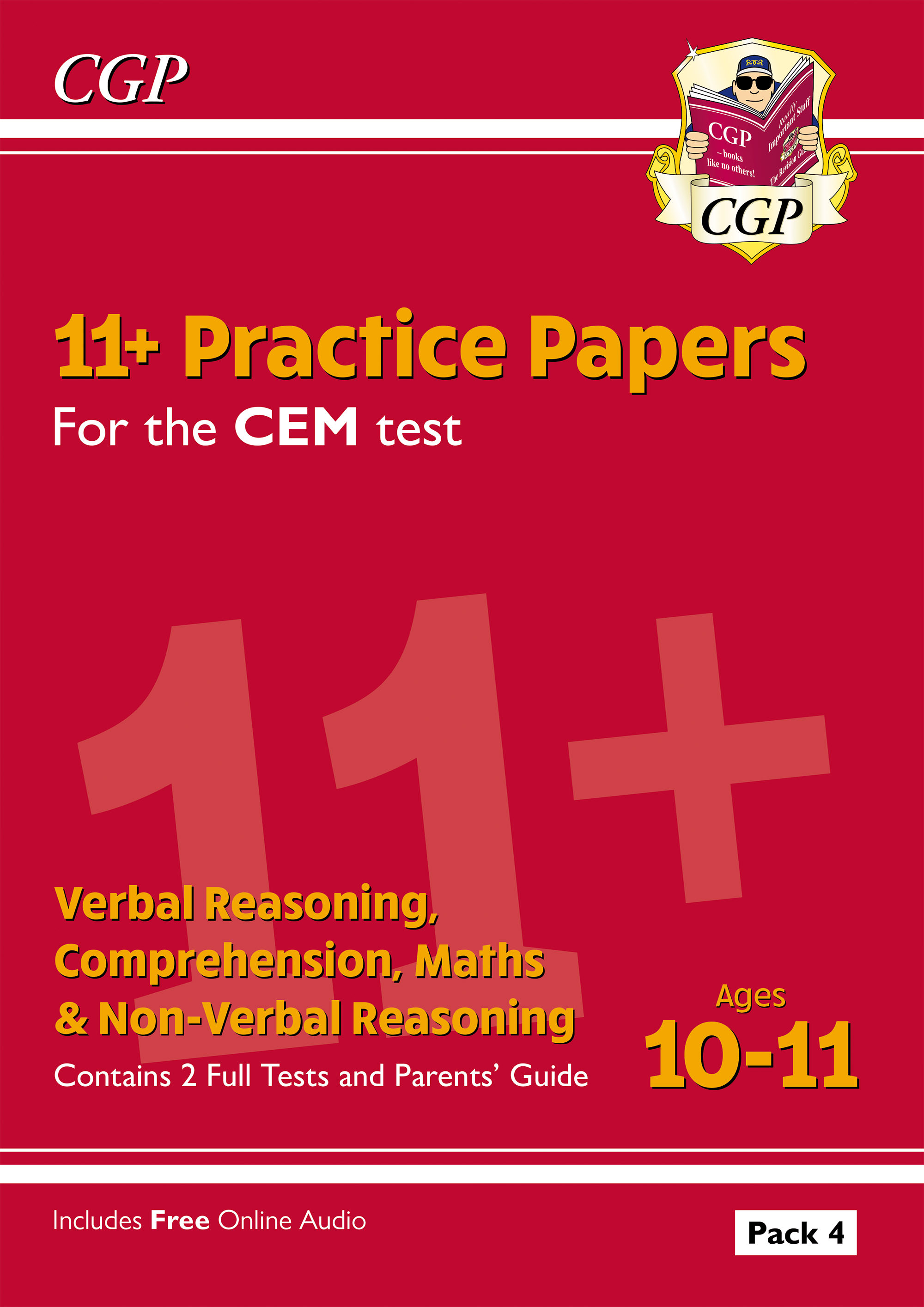 ELP4DE2DK - New 11+ CEM Practice Papers: Ages 10-11 - Pack 4 (with Parents' Guide)