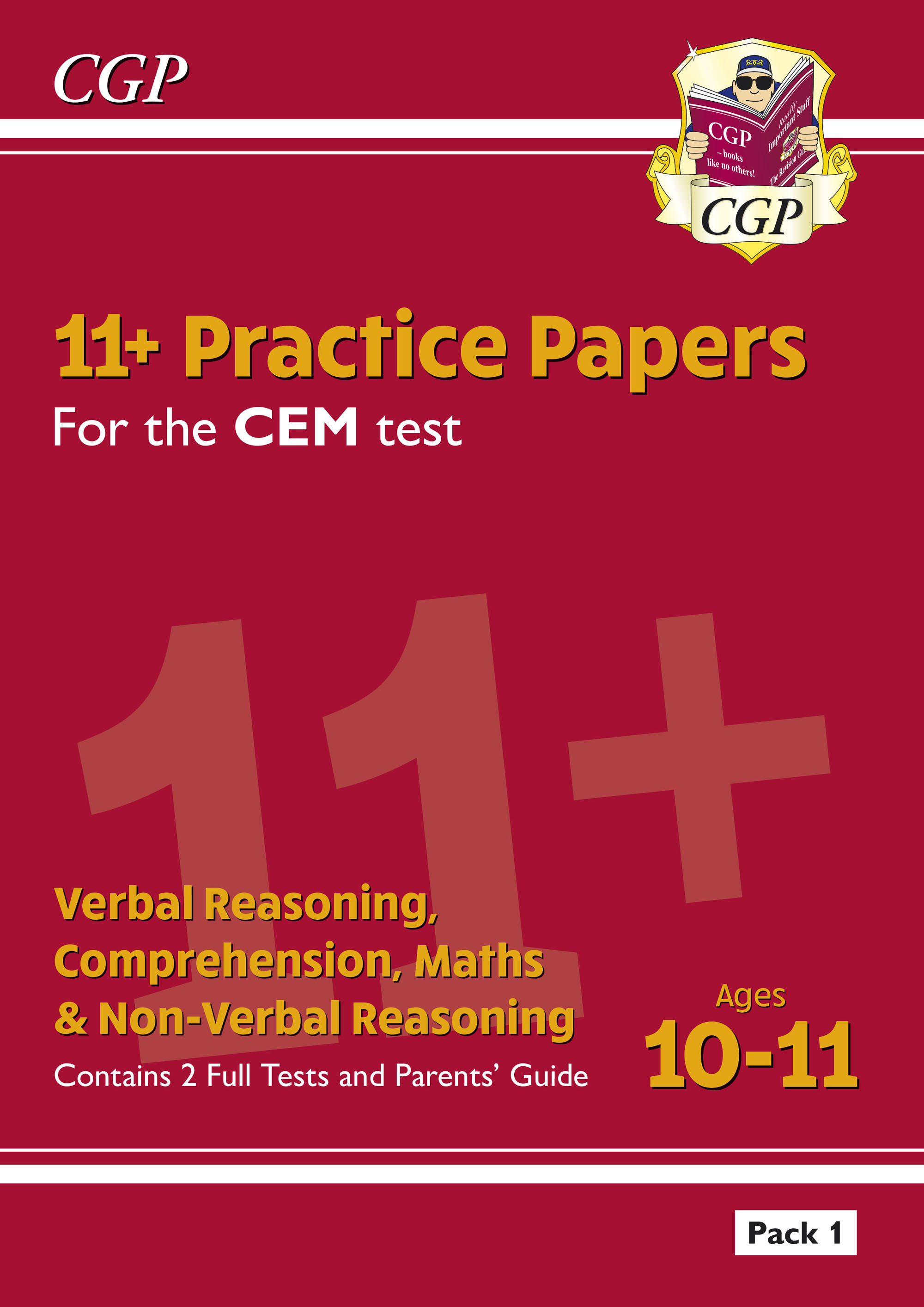 ELPDE2DK - New 11+ CEM Practice Papers: Ages 10-11 - Pack 1 (with Parents' Guide)