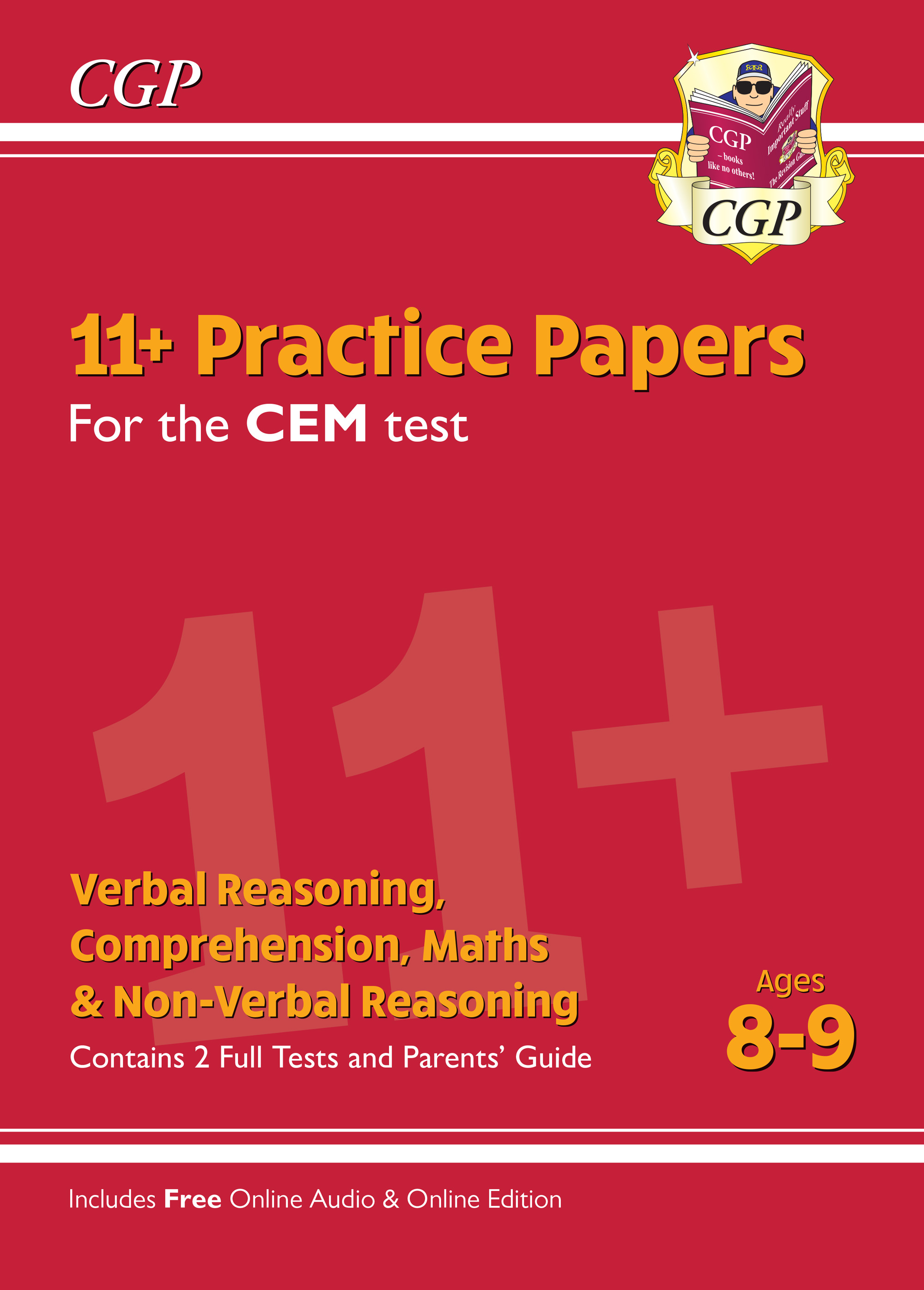ELY4PDE1 - New 11+ CEM Practice Papers - Ages 8-9 (with Parents' Guide & Online Edition)