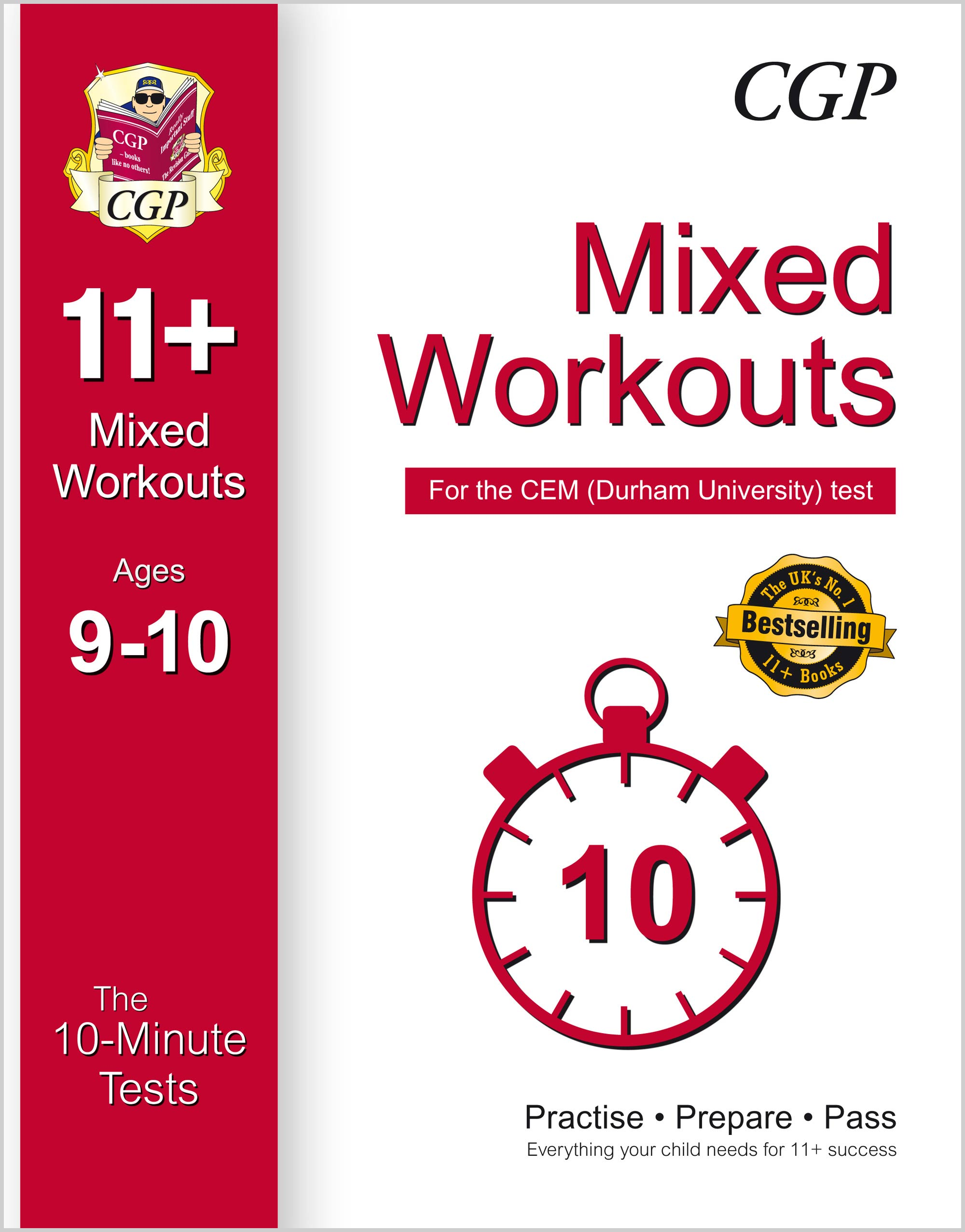 L5XWDE1 - 10-Minute Tests for 11+ Mixed Workouts: Ages 9-10 - CEM Test