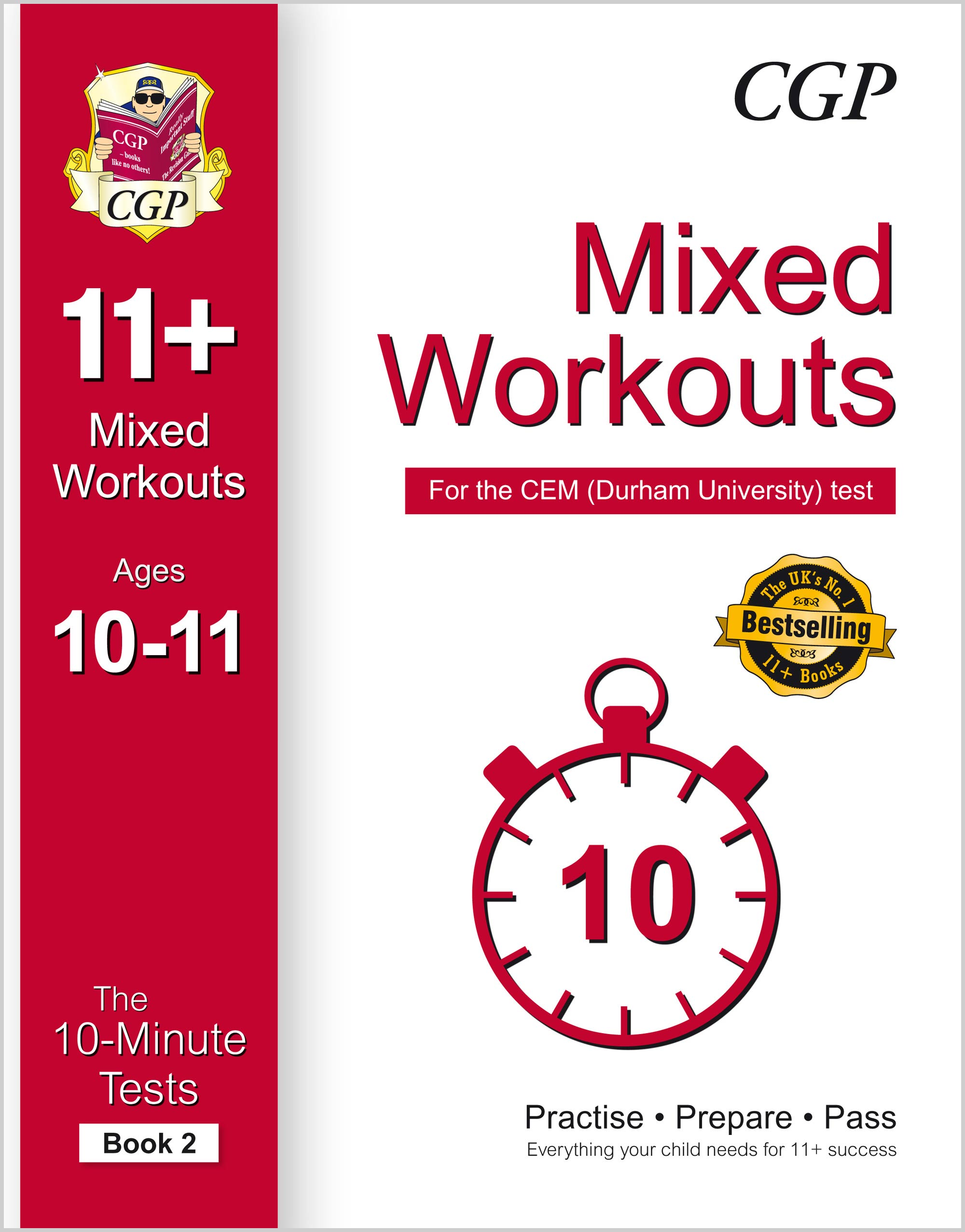 L6XW2DE1 - 10-Minute Tests for 11+ Mixed Workouts: Ages 10-11 (Book 2) - CEM Test