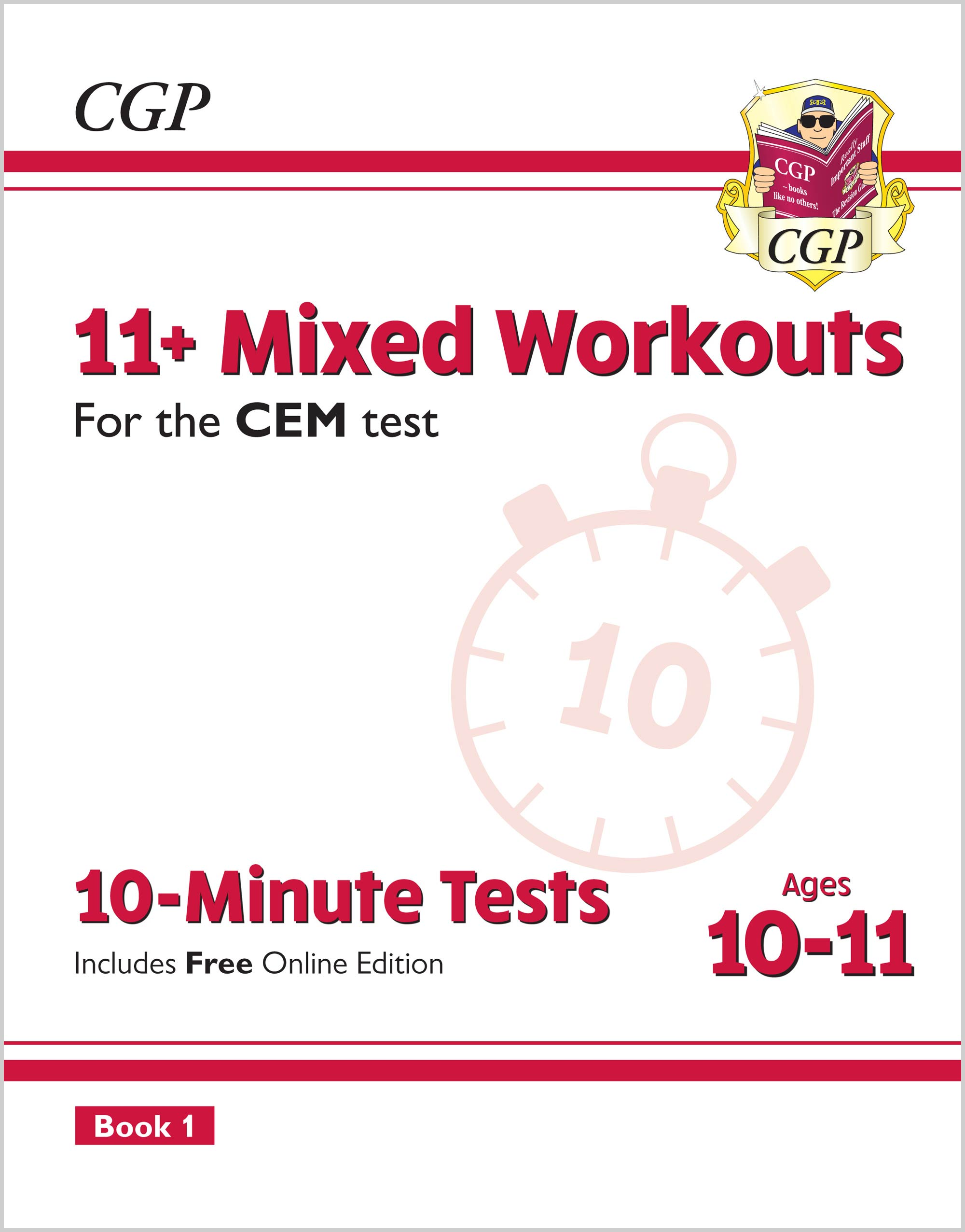 L6XWDE2 - 11+ CEM 10-Minute Tests: Mixed Workouts - Ages 10-11 Book 1 (with Online Edition)