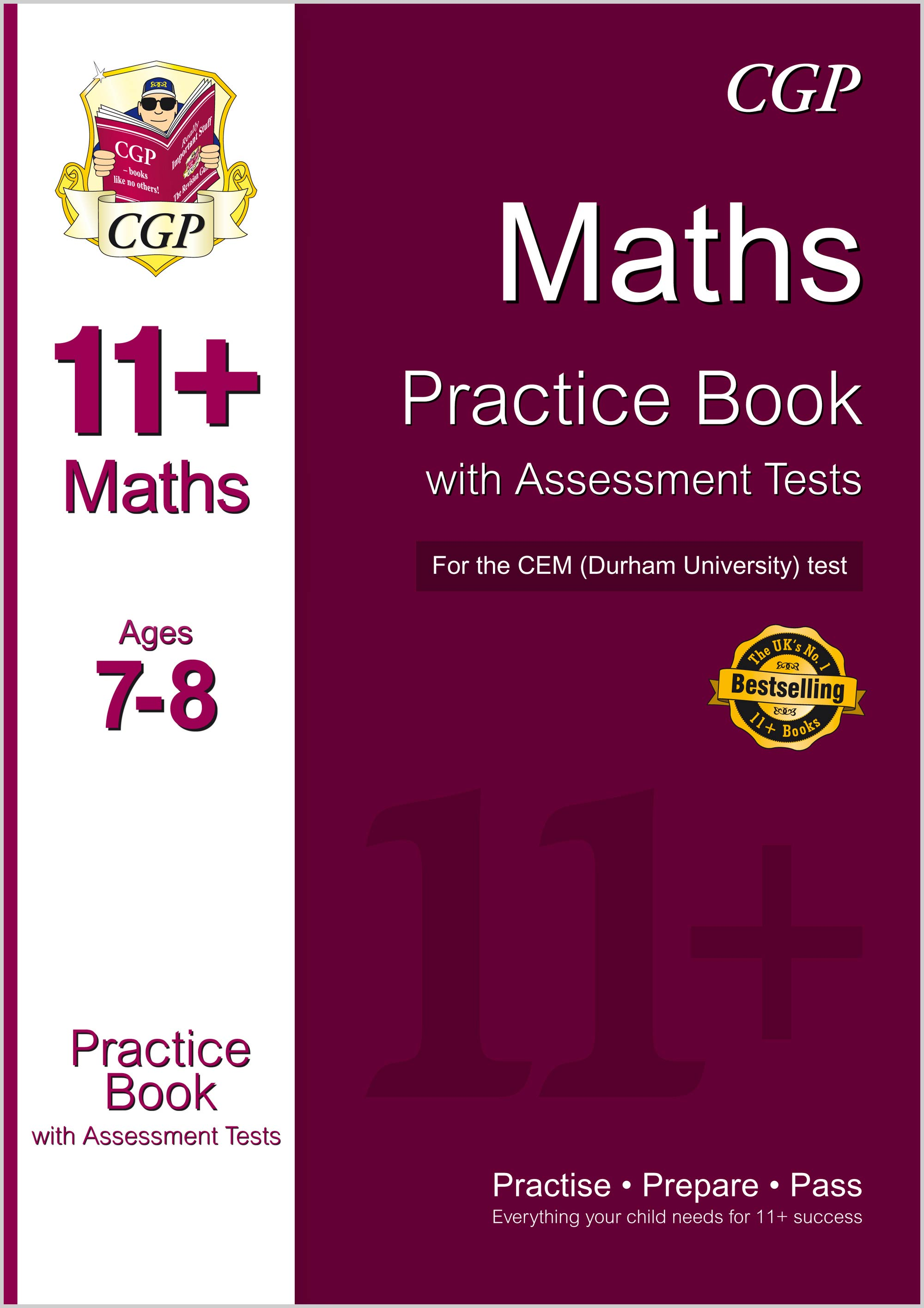 M3QDE1 - 11+ Maths Practice Book with Assessment Tests (Ages 7-8) for the CEM Test