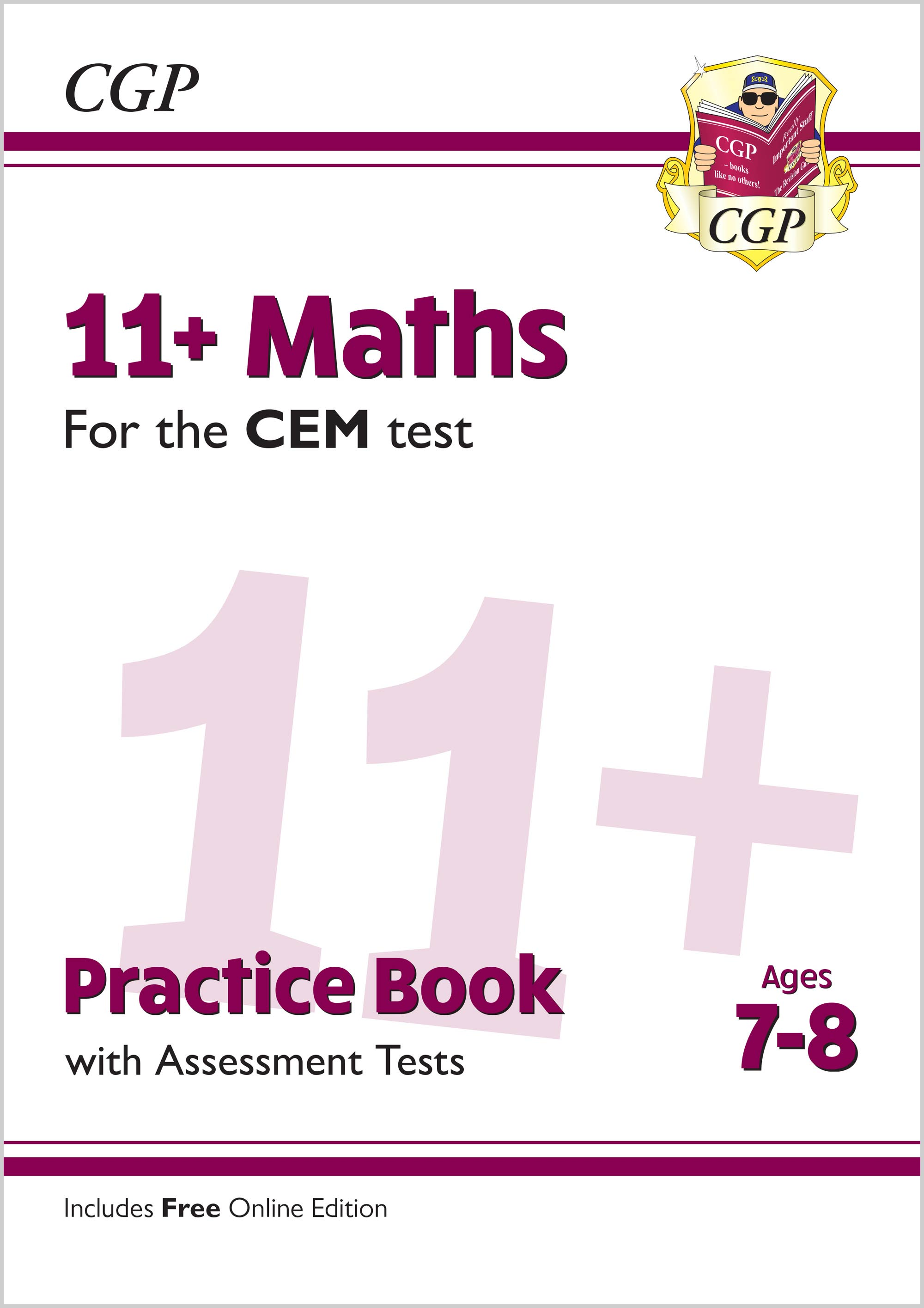 M3QDE2 - New 11+ CEM Maths Practice Book & Assessment Tests - Ages 7-8 (with Online Edition)