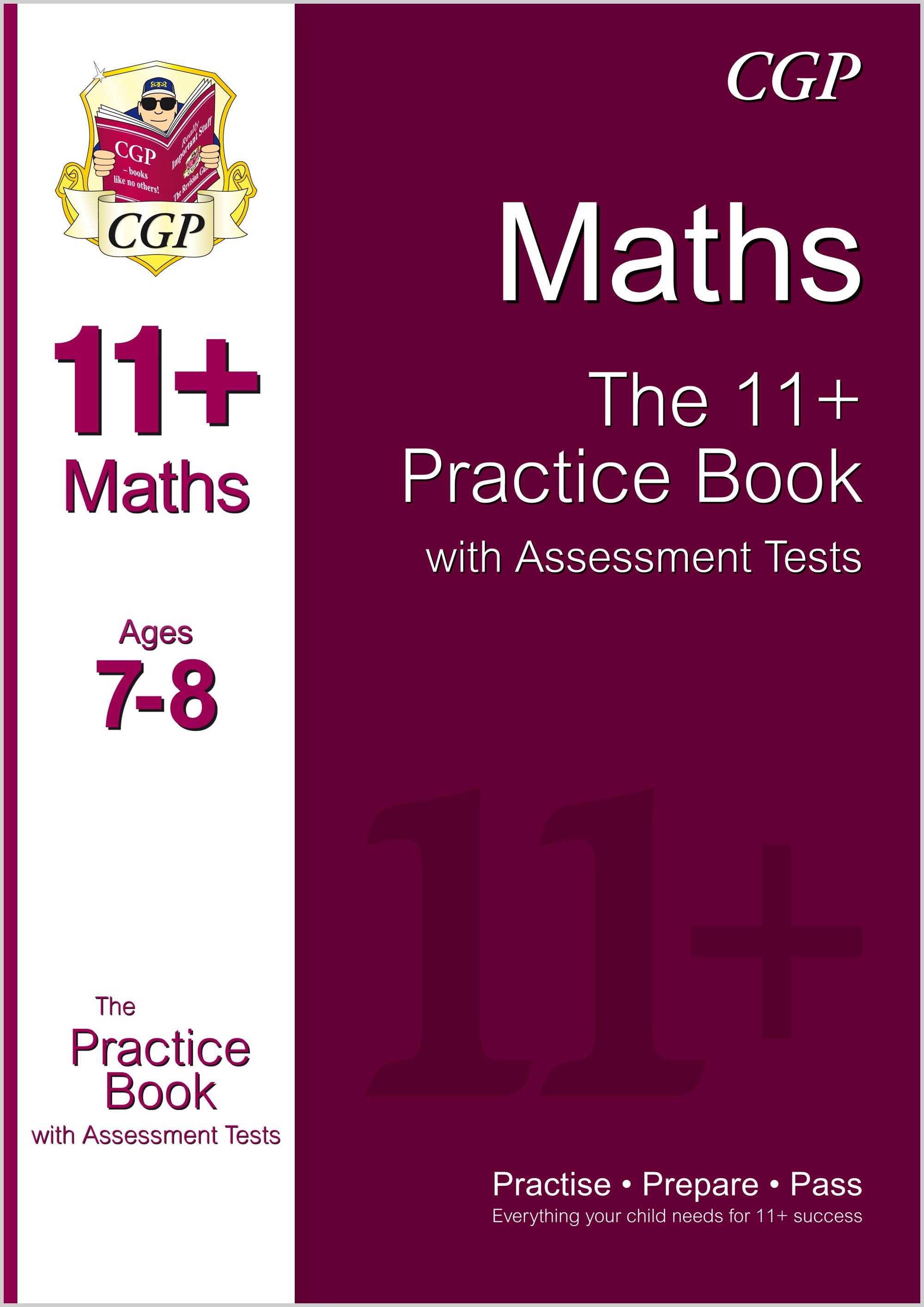 M3QE1 - 11+ Maths Practice Book with Assessment Tests Ages 7-8 (for GL & Other Test Providers)