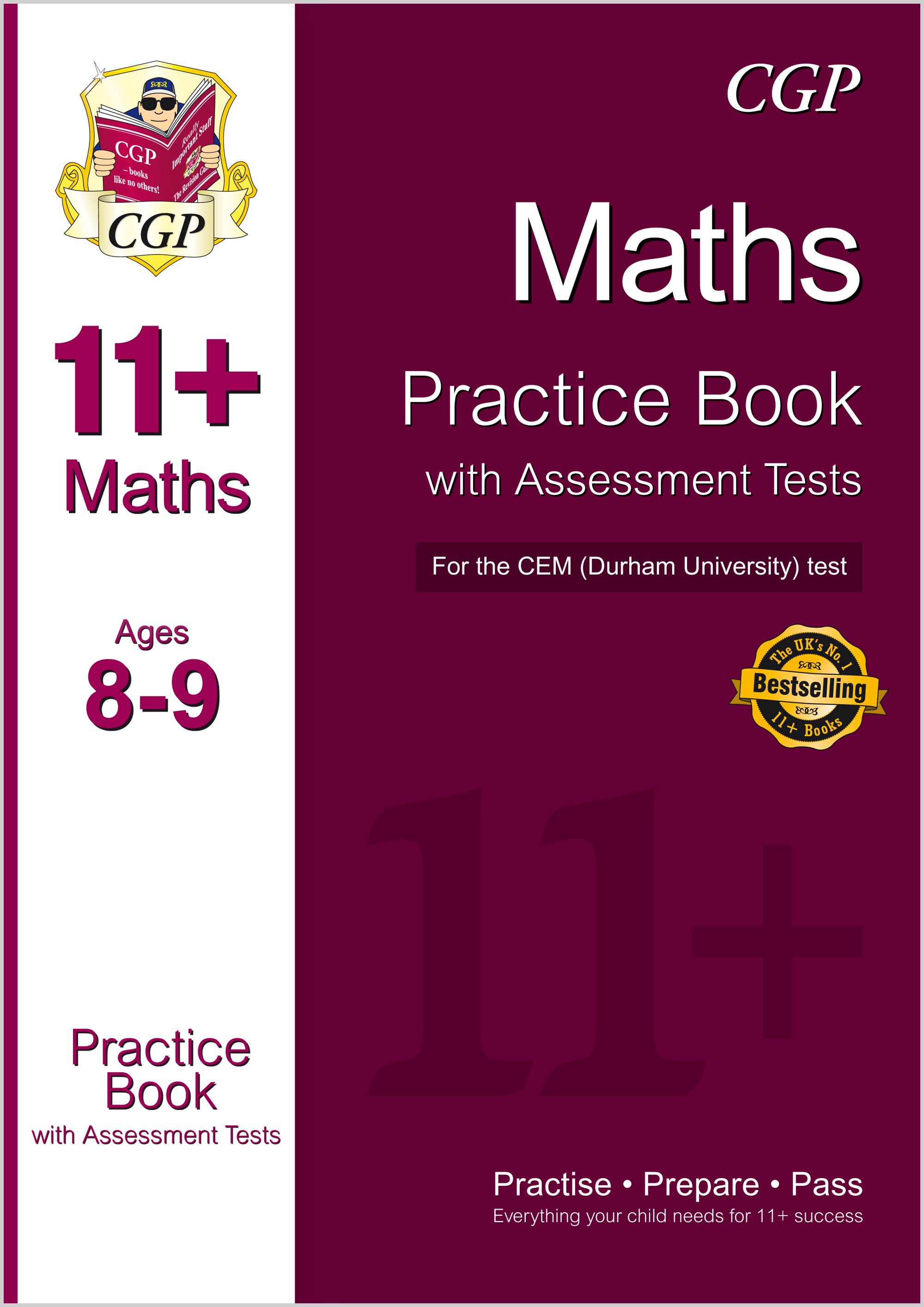 M4QDE1 - 11+ Maths Practice Book with Assessment Tests (Ages 8-9) for the CEM Test