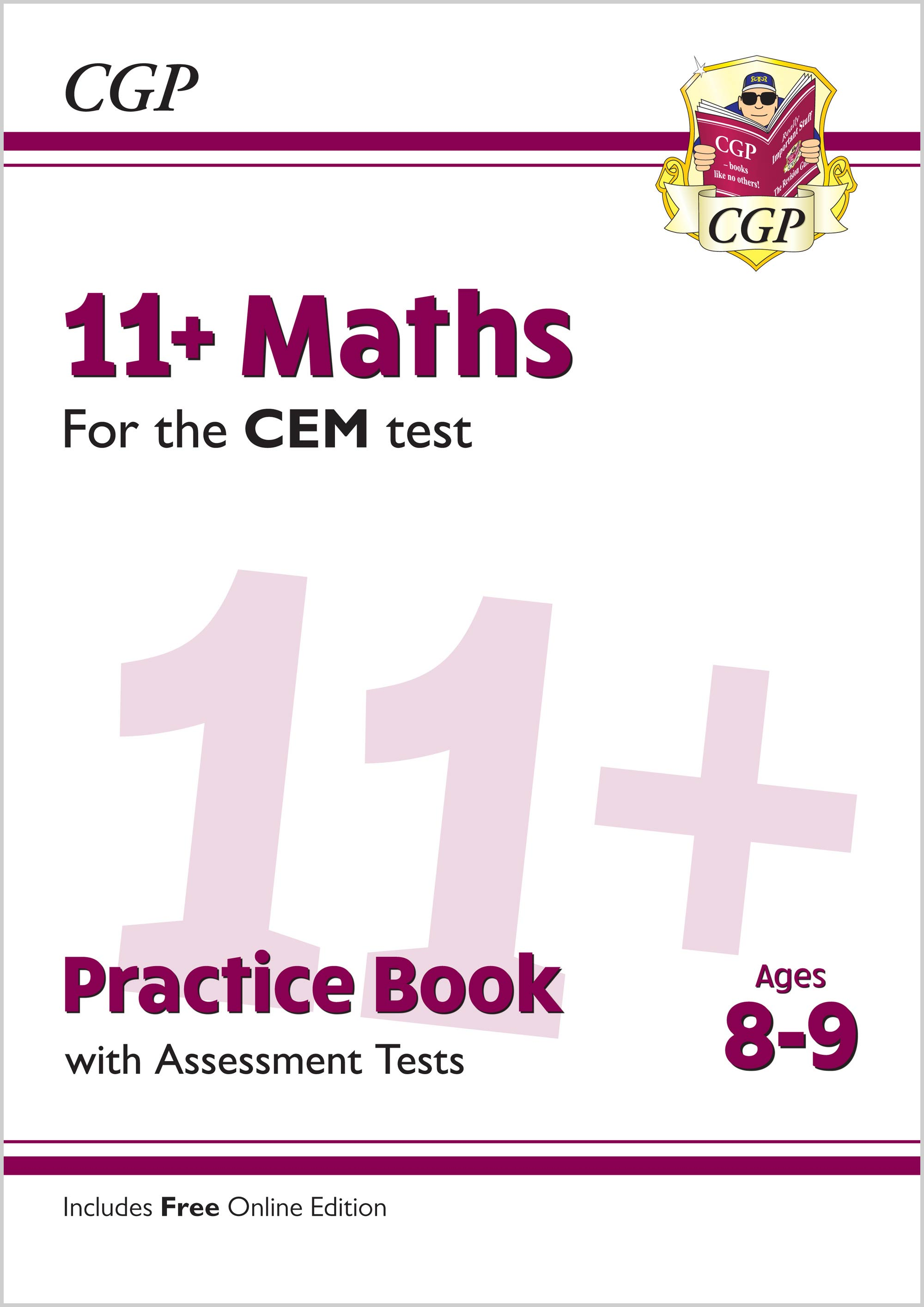 M4QDE2 - New 11+ CEM Maths Practice Book & Assessment Tests - Ages 8-9 (with Online Edition)