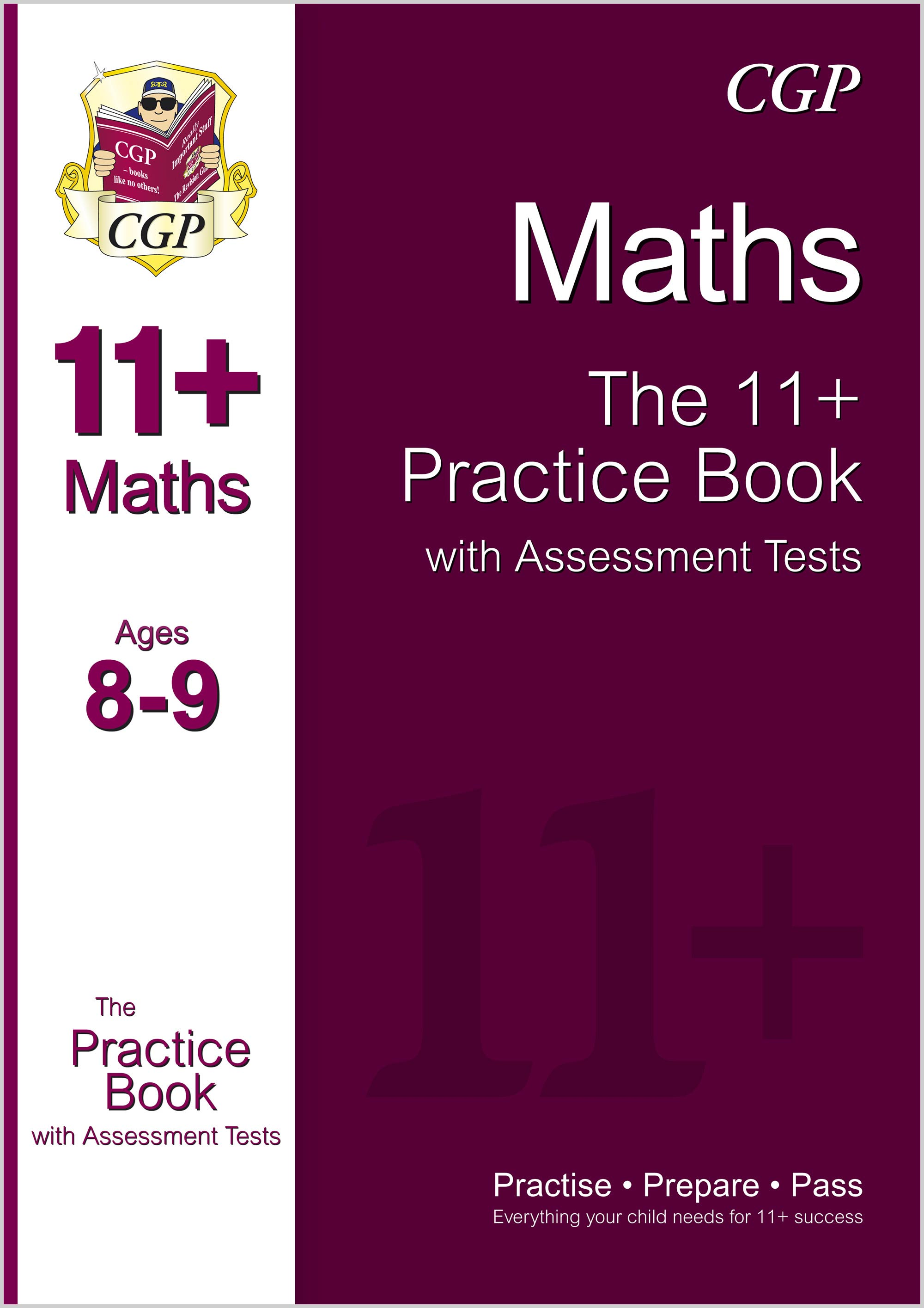 M4QE1 - 11+ Maths Practice Book with Assessment Tests Ages 8-9 (for GL & Other Test Providers)