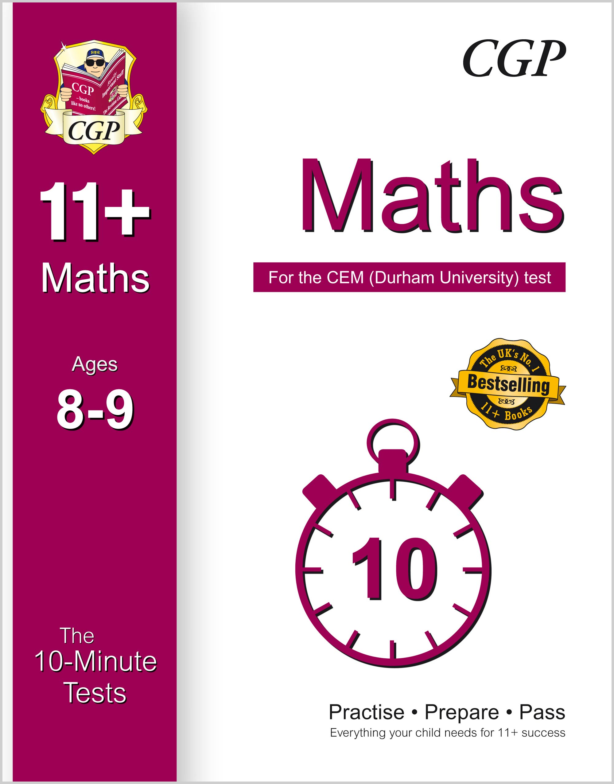 M4XPDE1 - 10-Minute Tests for 11+ Maths Ages 8-9 - CEM Test