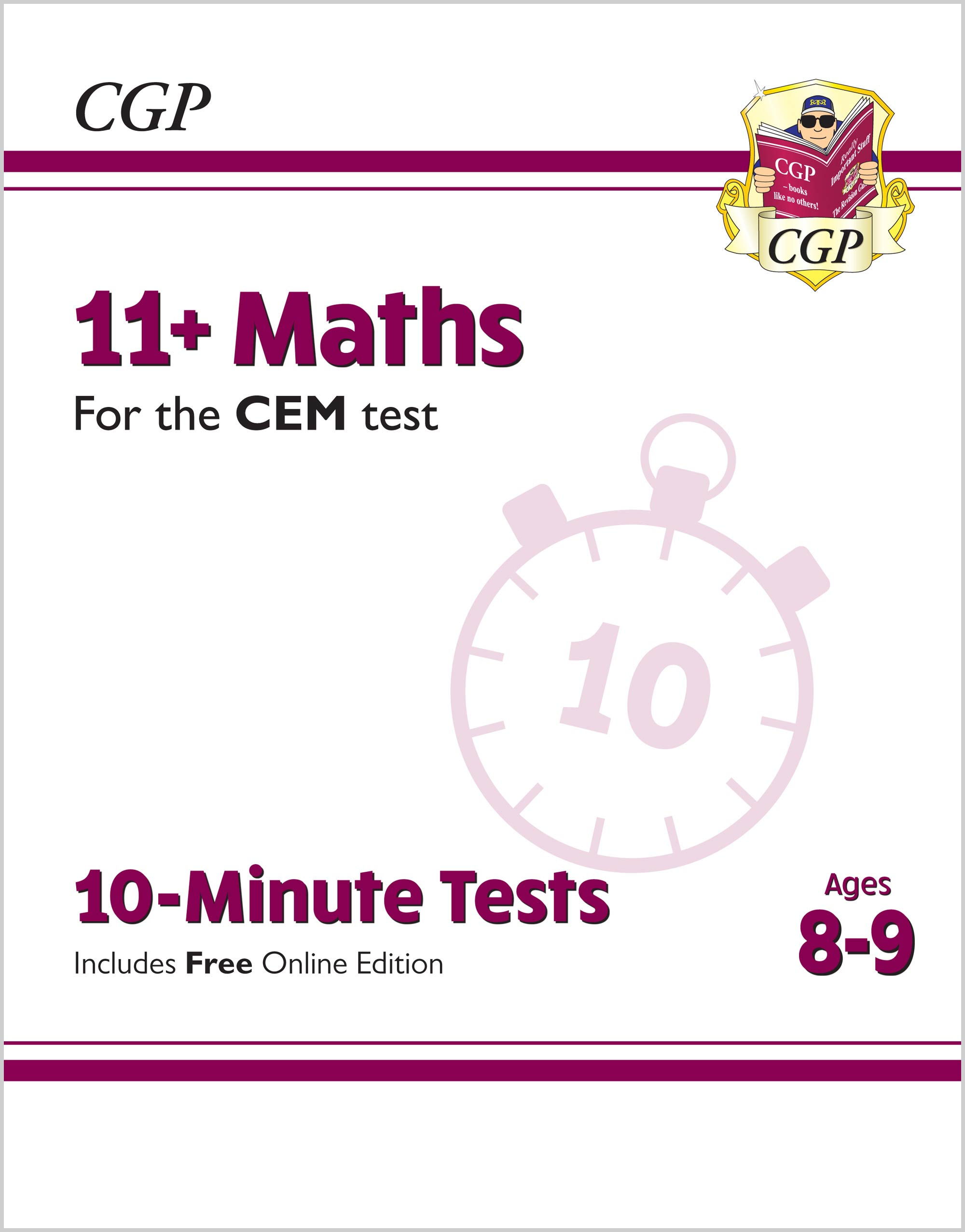 M4XPDE2 - 11+ CEM 10-Minute Tests: Maths - Ages 8-9 (with Online Edition)