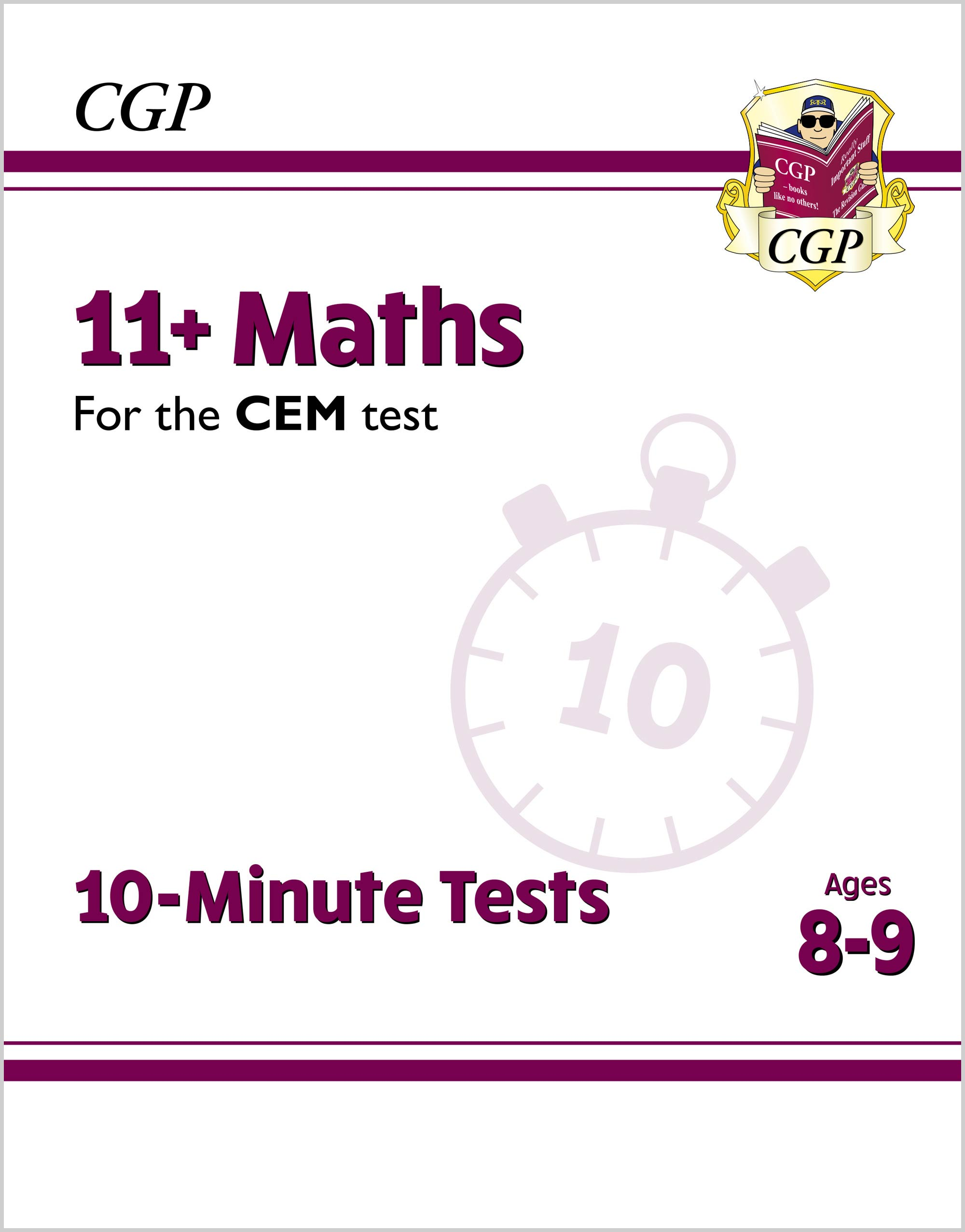 M4XPDE2DK - New 11+ CEM 10-Minute Tests: Maths - Ages 8-9 (with Online Edition)