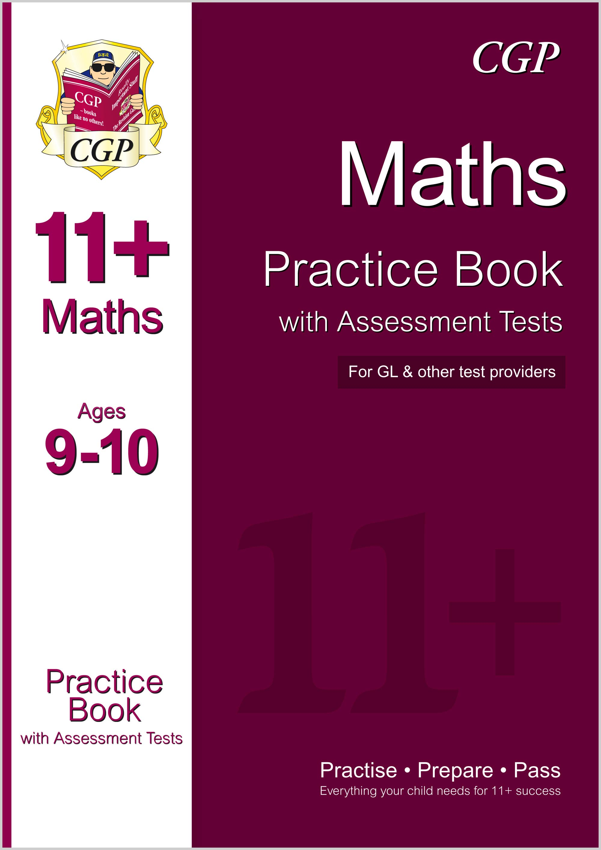 M5QE1 - 11+ Maths Practice Book with Assessment Tests Ages 9-10 (for GL & Other Test Providers)