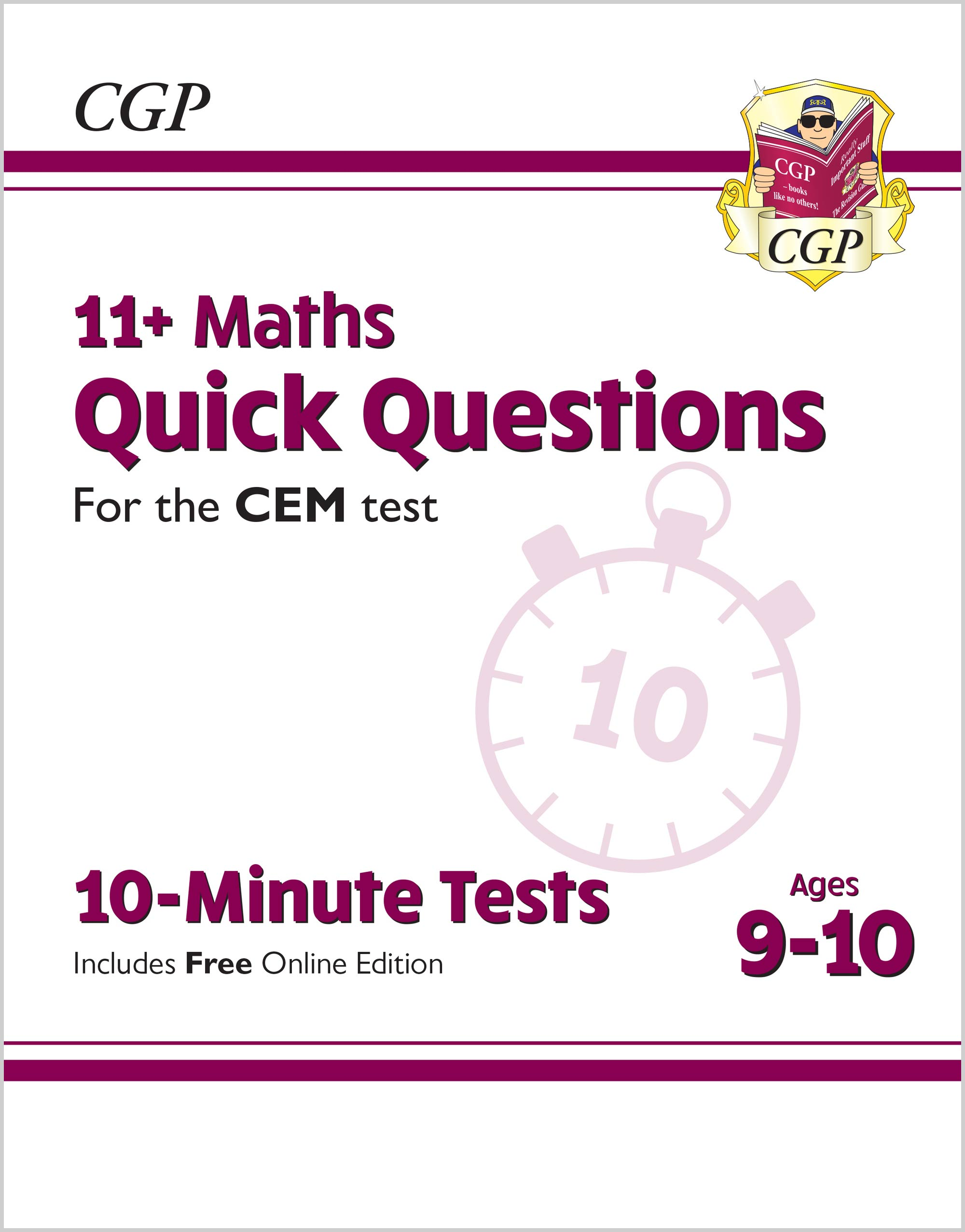 M5QXPDE1 - New 11+ CEM 10-Minute Tests: Maths Quick Questions - Ages 9-10 (with Online Edition)