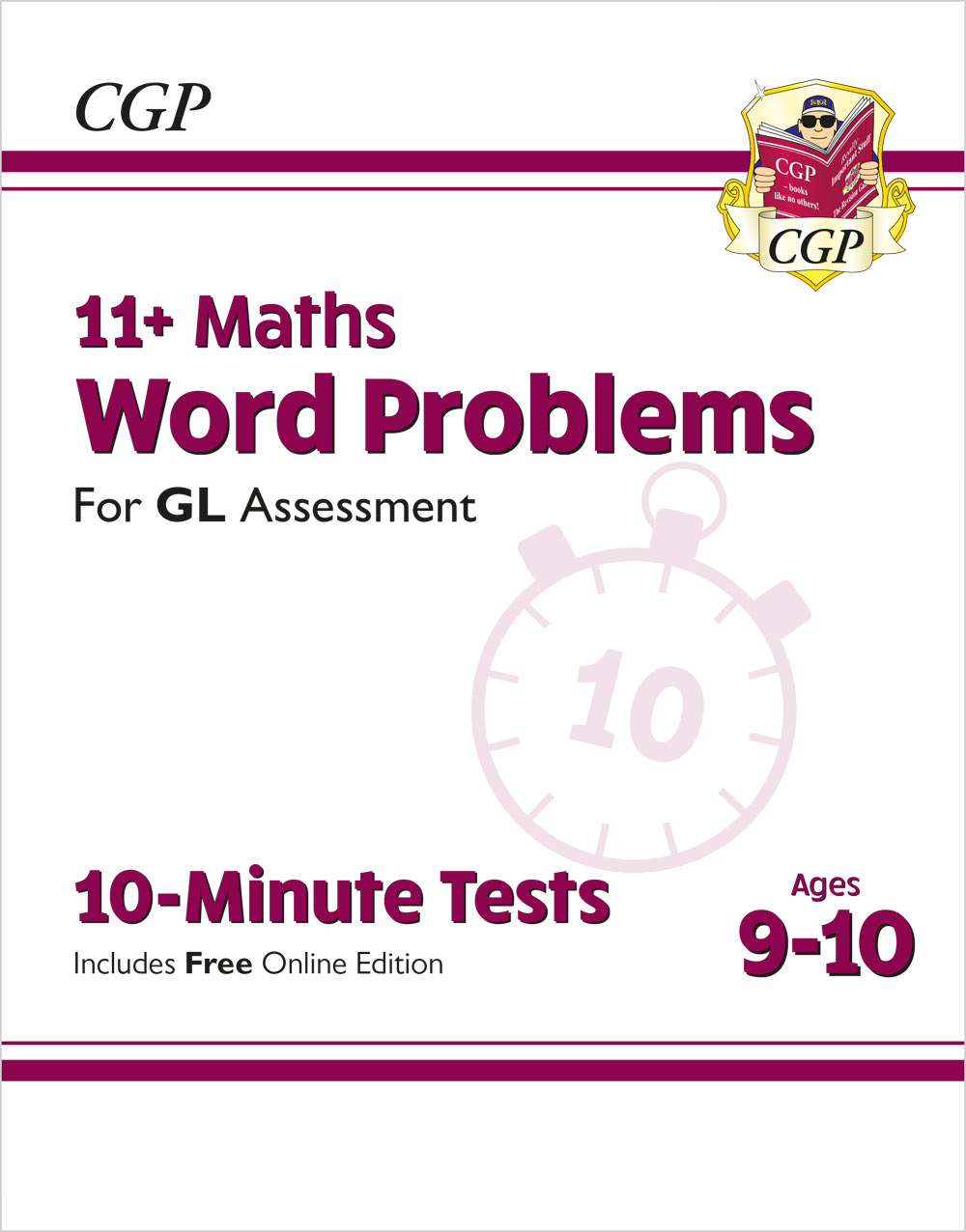 M5WXPE1 - 11+ GL 10-Minute Tests: Maths Word Problems - Ages 9-10 (with Online Edition)