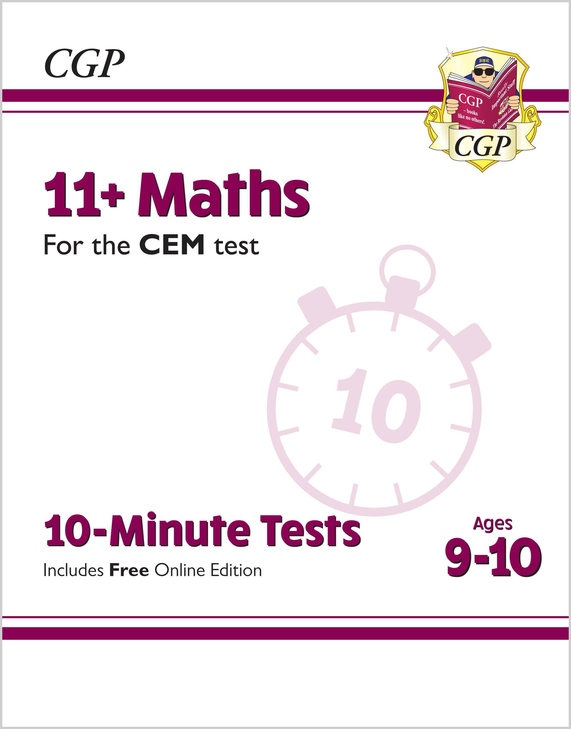 M5XPDE2 - 11+ CEM 10-Minute Tests: Maths - Ages 9-10 (with Online Edition)