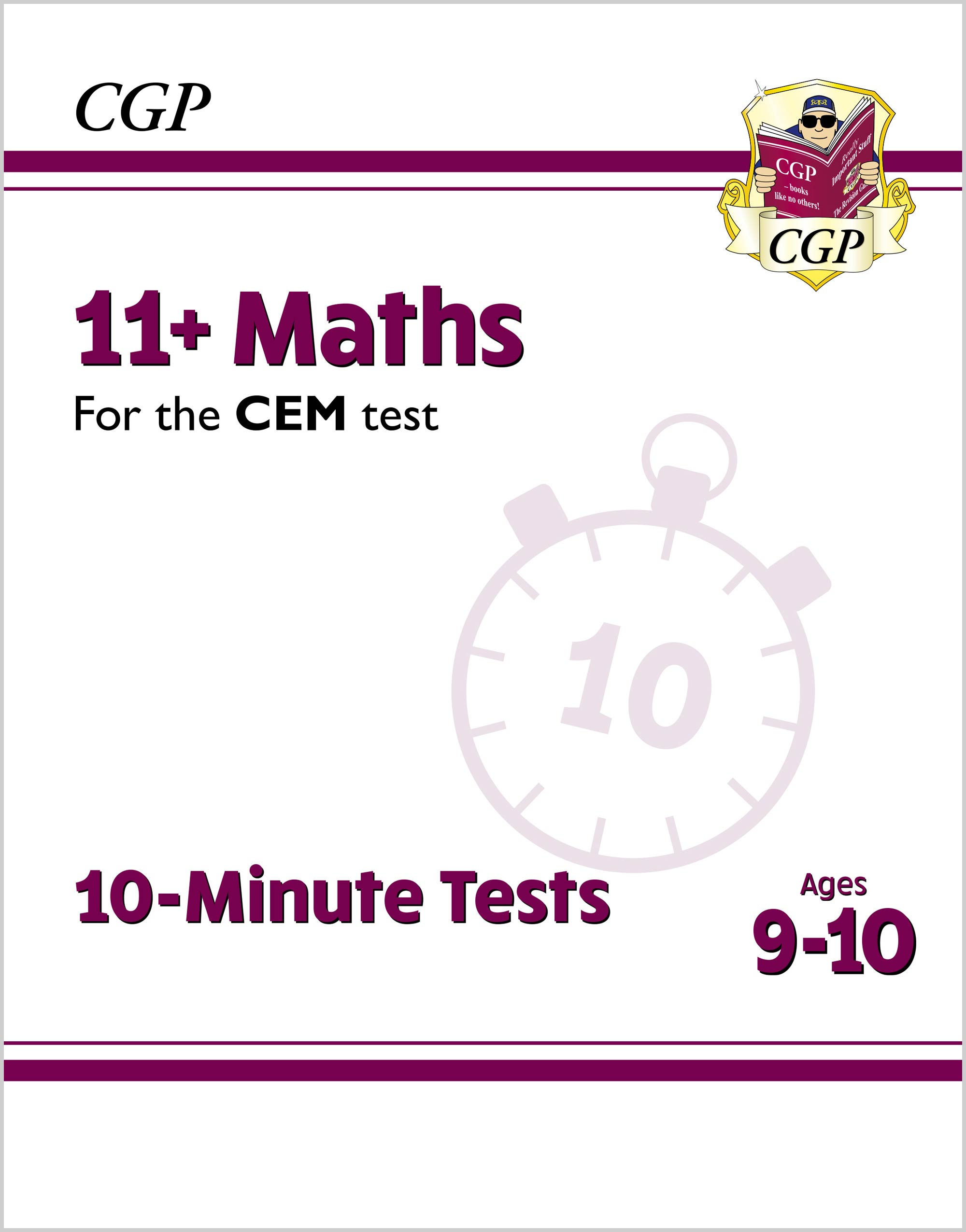 M5XPDE2DK - New 11+ CEM 10-Minute Tests: Maths - Ages 9-10 (with Online Edition)