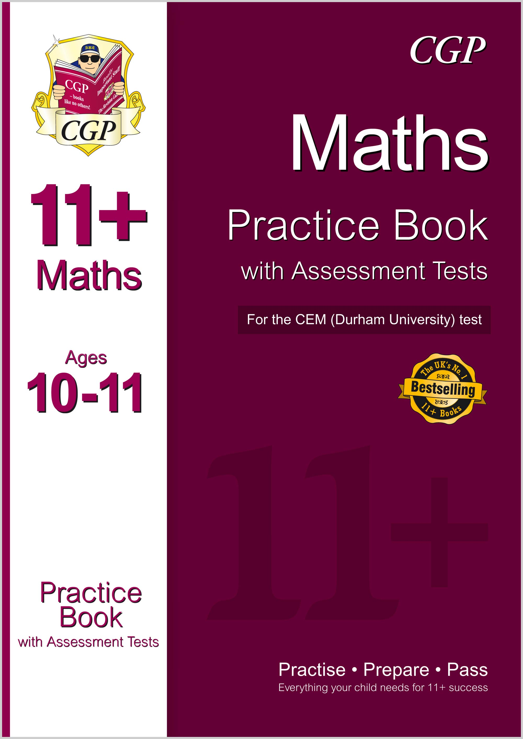 M6QDE1 - 11+ Maths Practice Book with Assessment Tests (Ages 10-11) for the CEM Test
